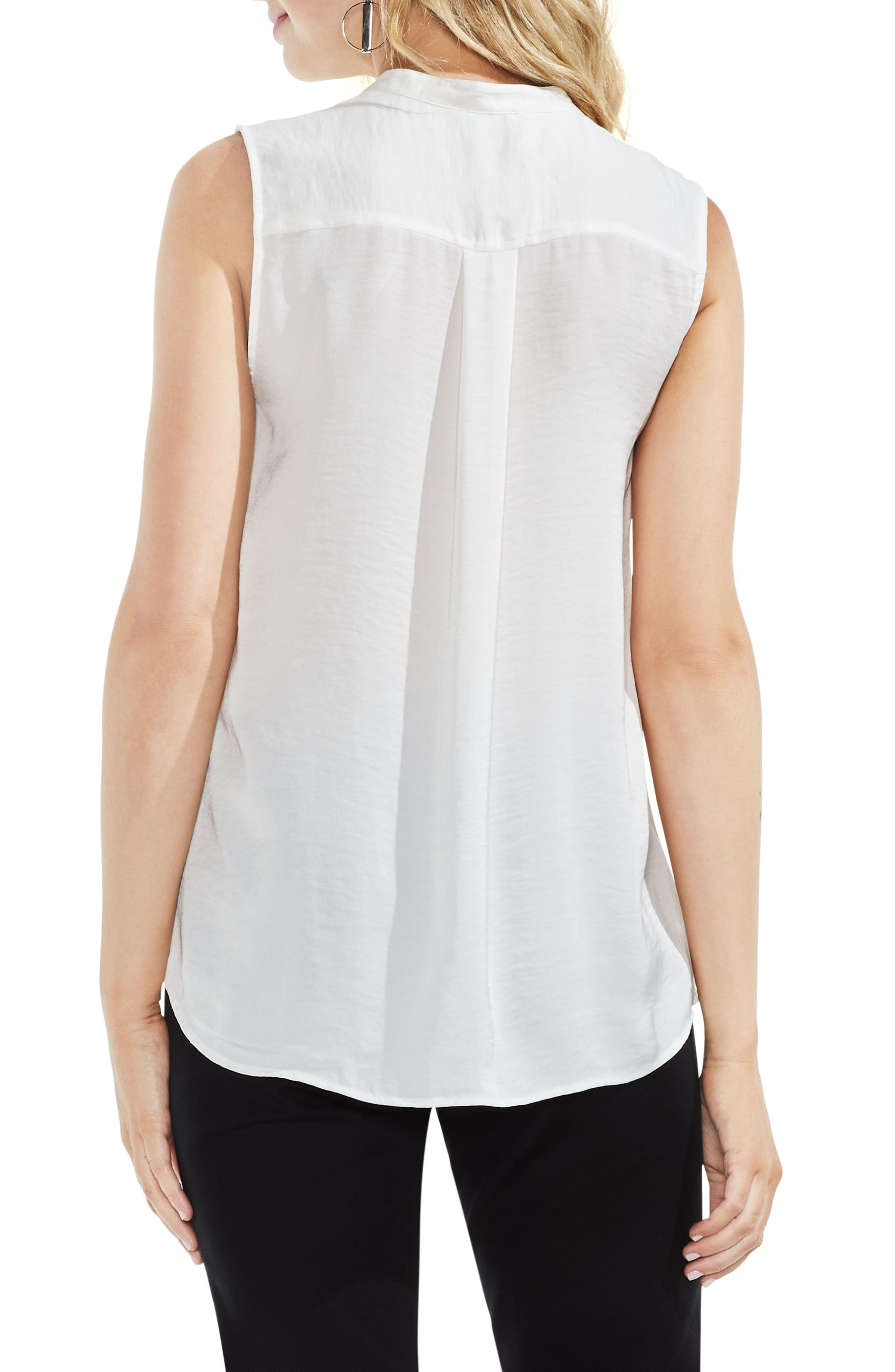 Sleeveless Henley Blouse,                             Alternate thumbnail 5, color,