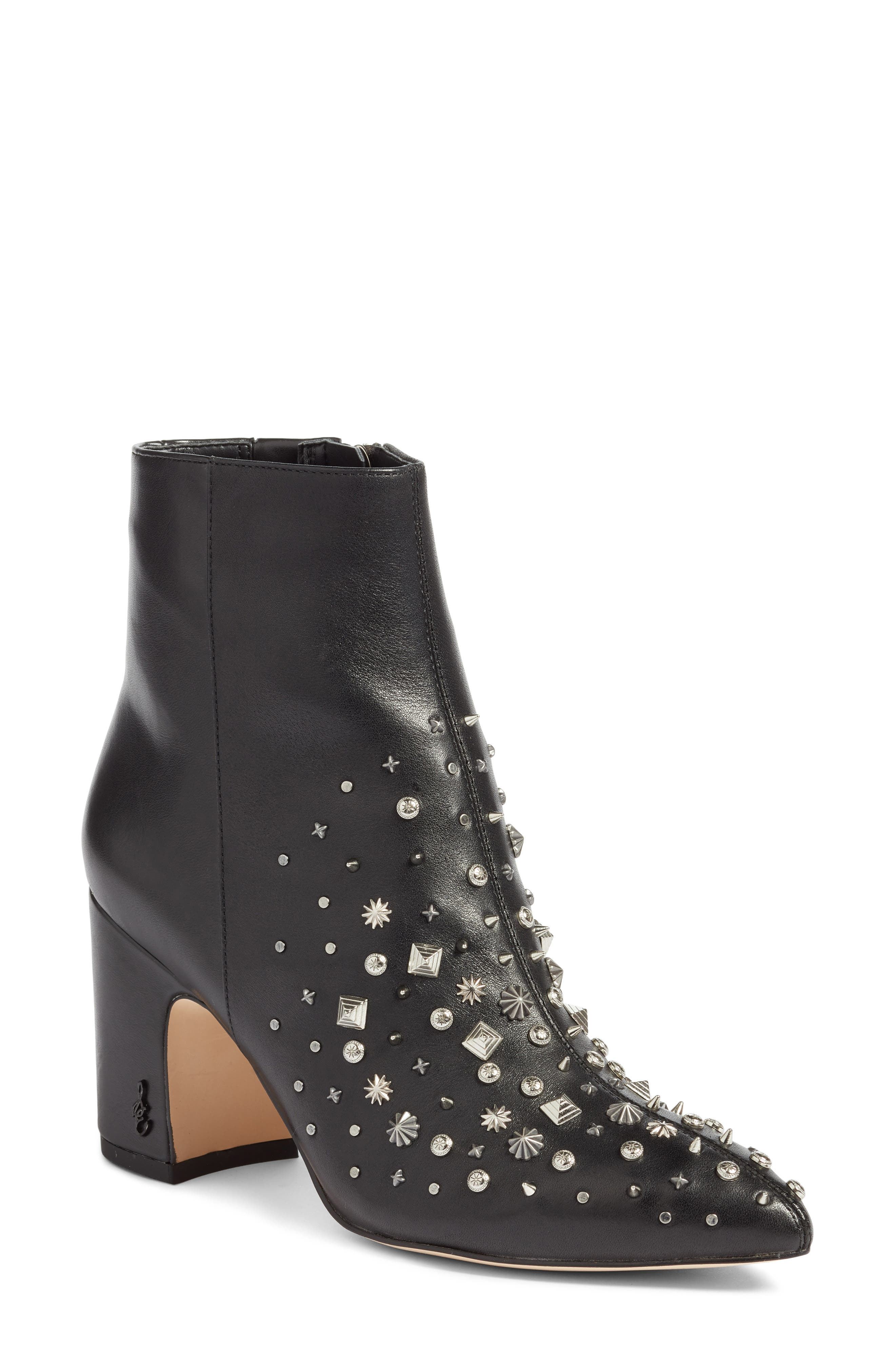 Hal Studded Bootie,                             Main thumbnail 1, color,                             001