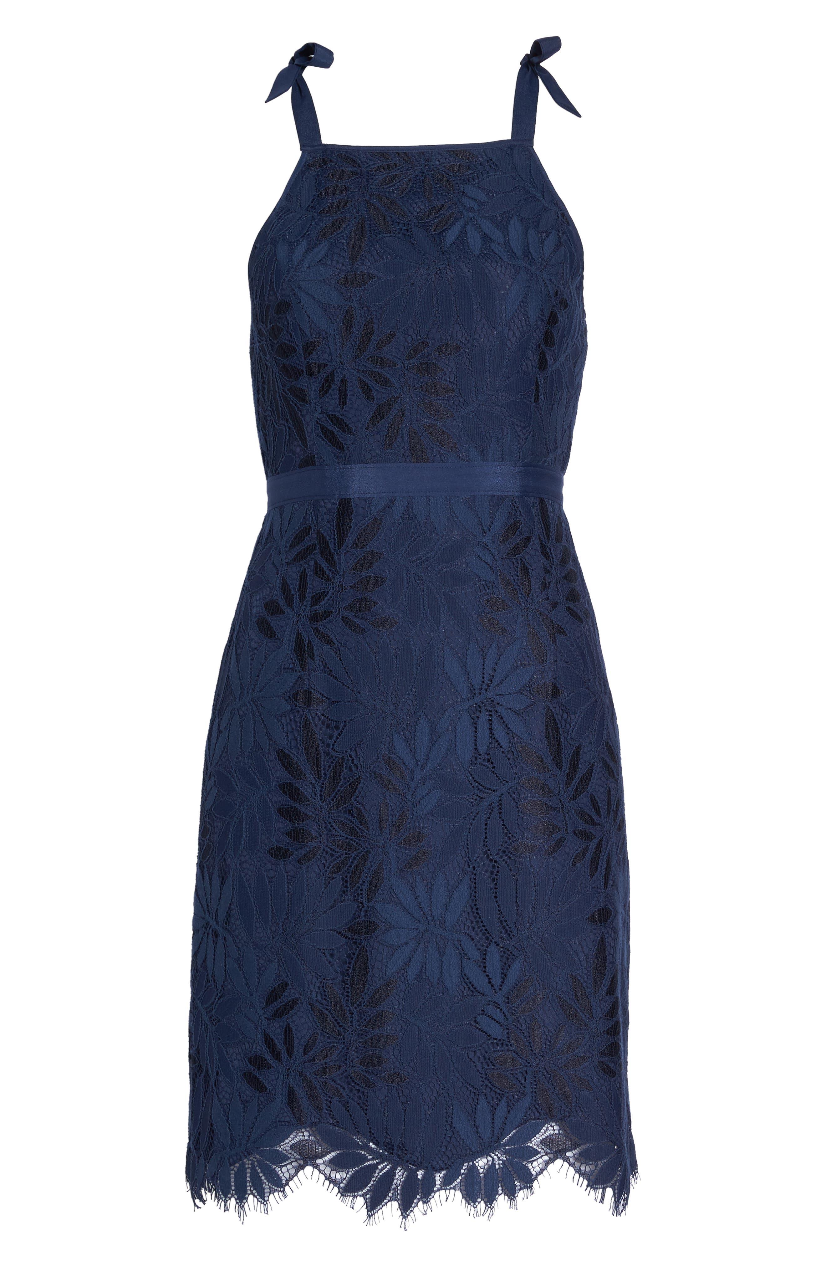 Lily Pulitzer<sup>®</sup> Jamie One-Shoulder Dress,                             Alternate thumbnail 6, color,                             TRUE NAVY