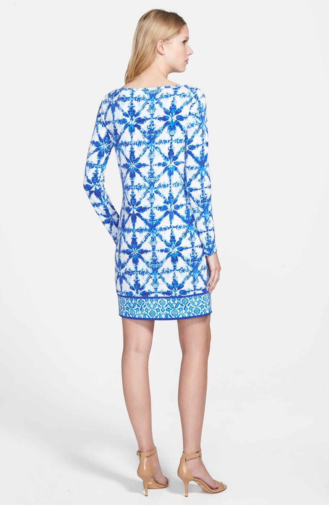 'Glazed Tile' Shift Dress,                             Alternate thumbnail 2, color,                             403