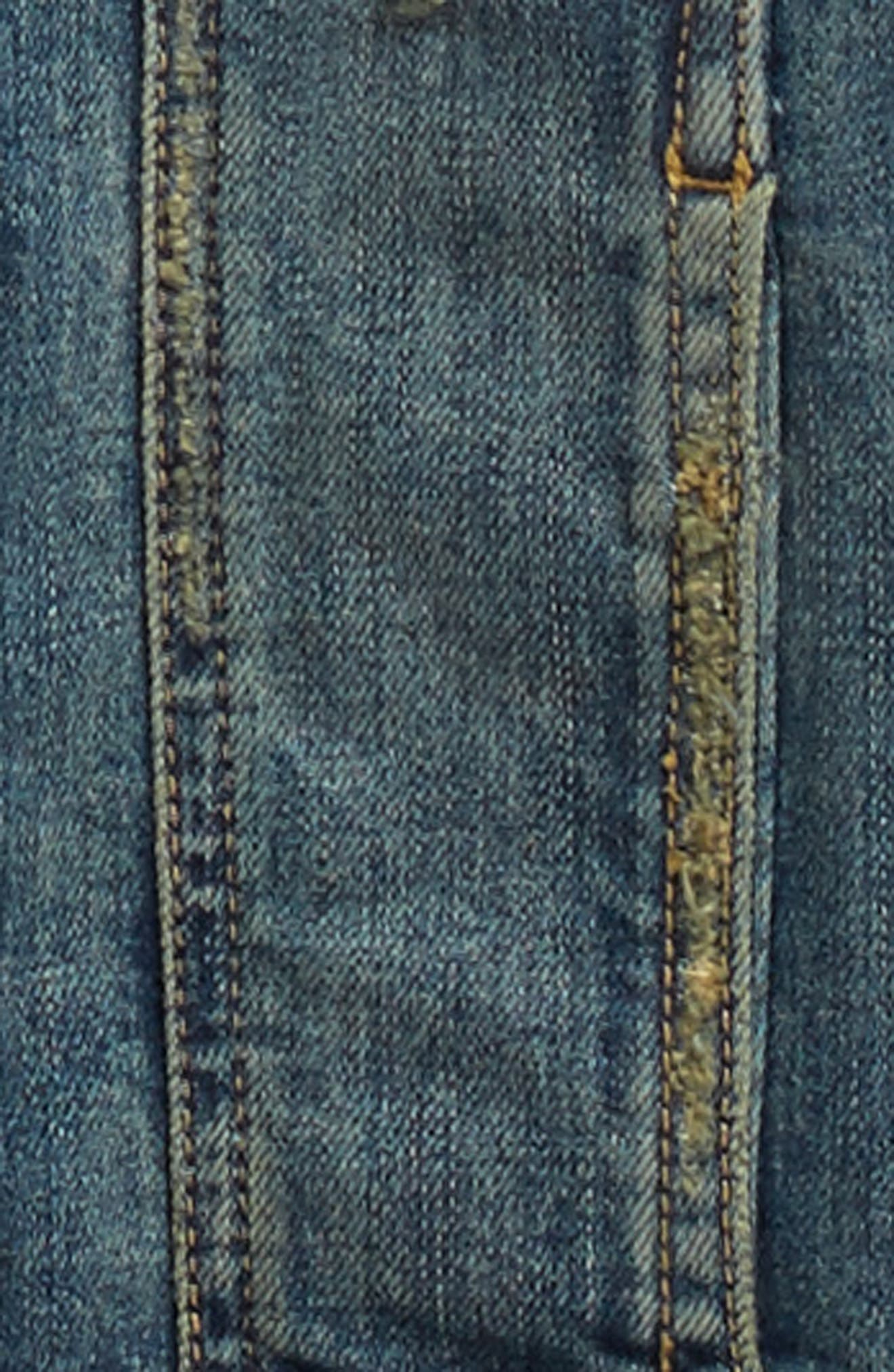 Distressed Denim Jacket,                             Alternate thumbnail 2, color,