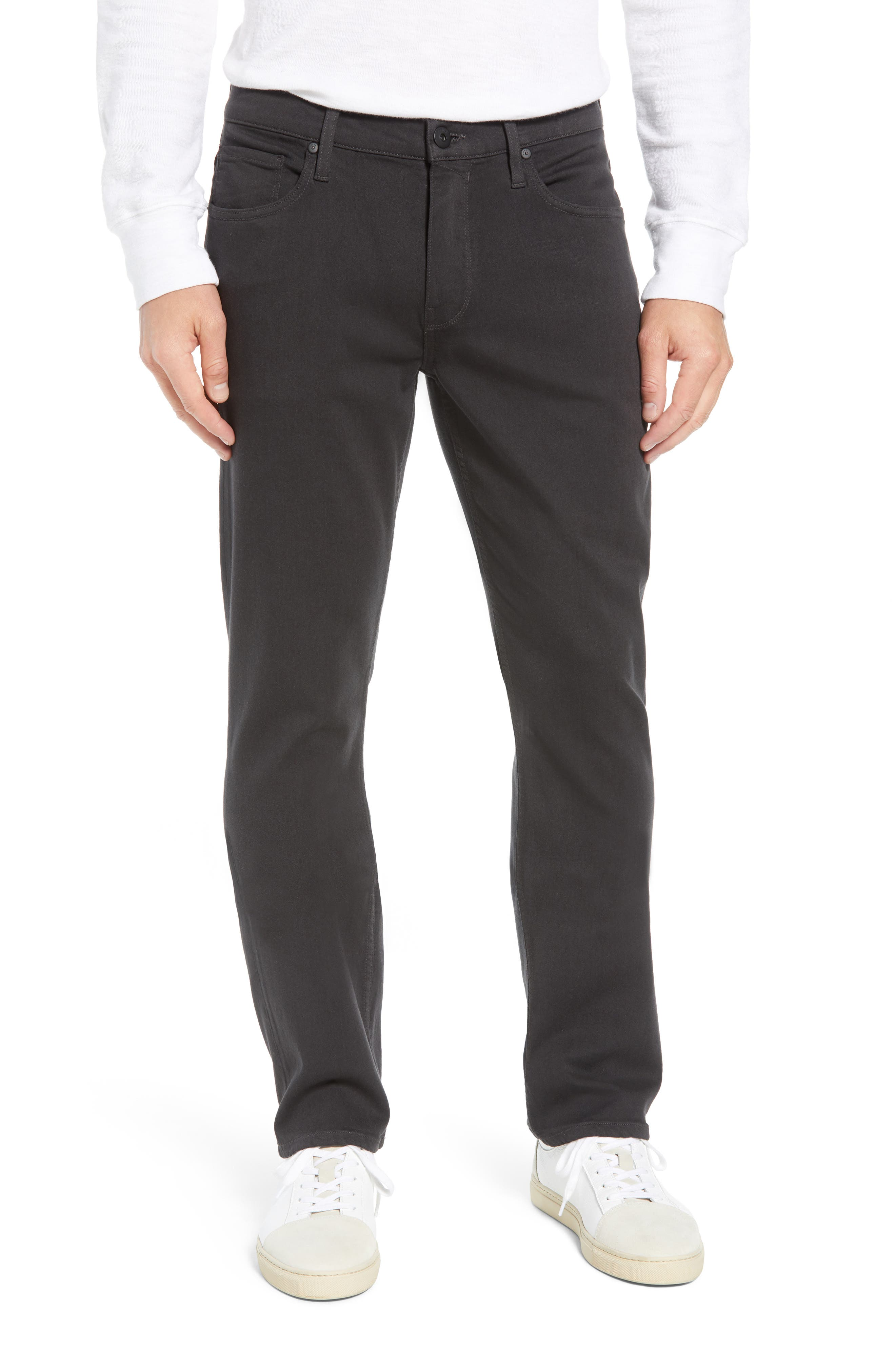 Transcend - Normandie Straight Leg Jeans,                             Main thumbnail 1, color,                             MIDNIGHT GREY