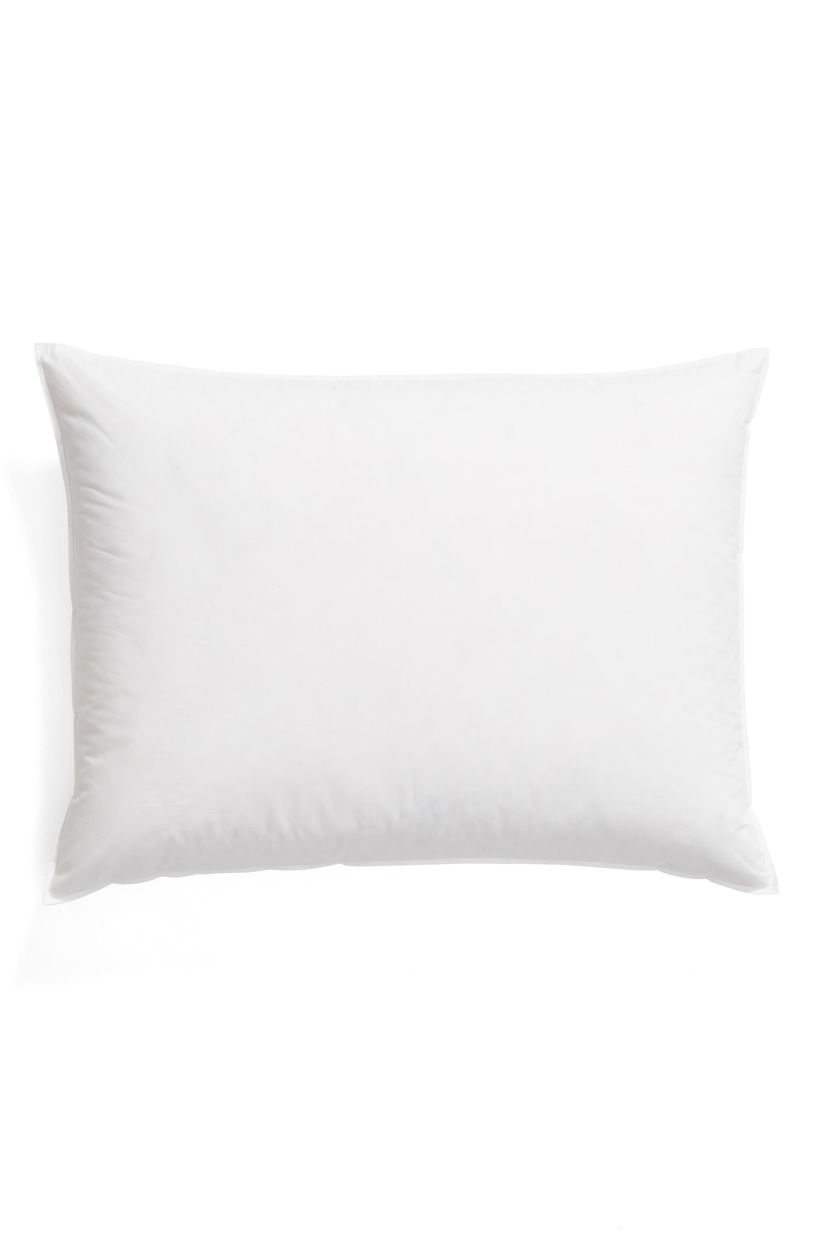 MATOUK Montreux Firm 600 Fill Power Down 280 Thread Count Pillow, Main, color, WHITE