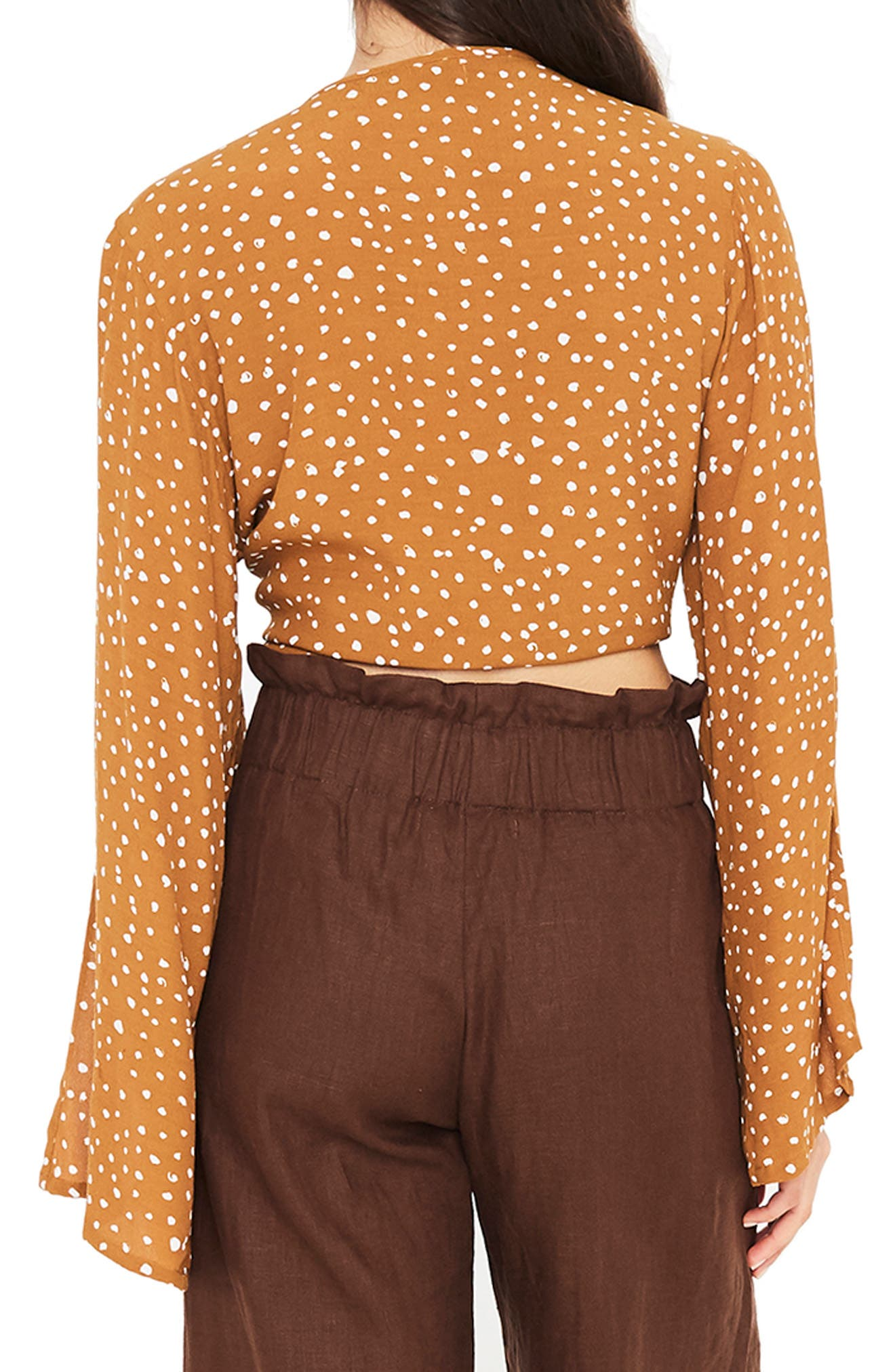 Teguise Tie Hem Crop Top,                             Alternate thumbnail 2, color,                             NOEL PRINT CARMEL