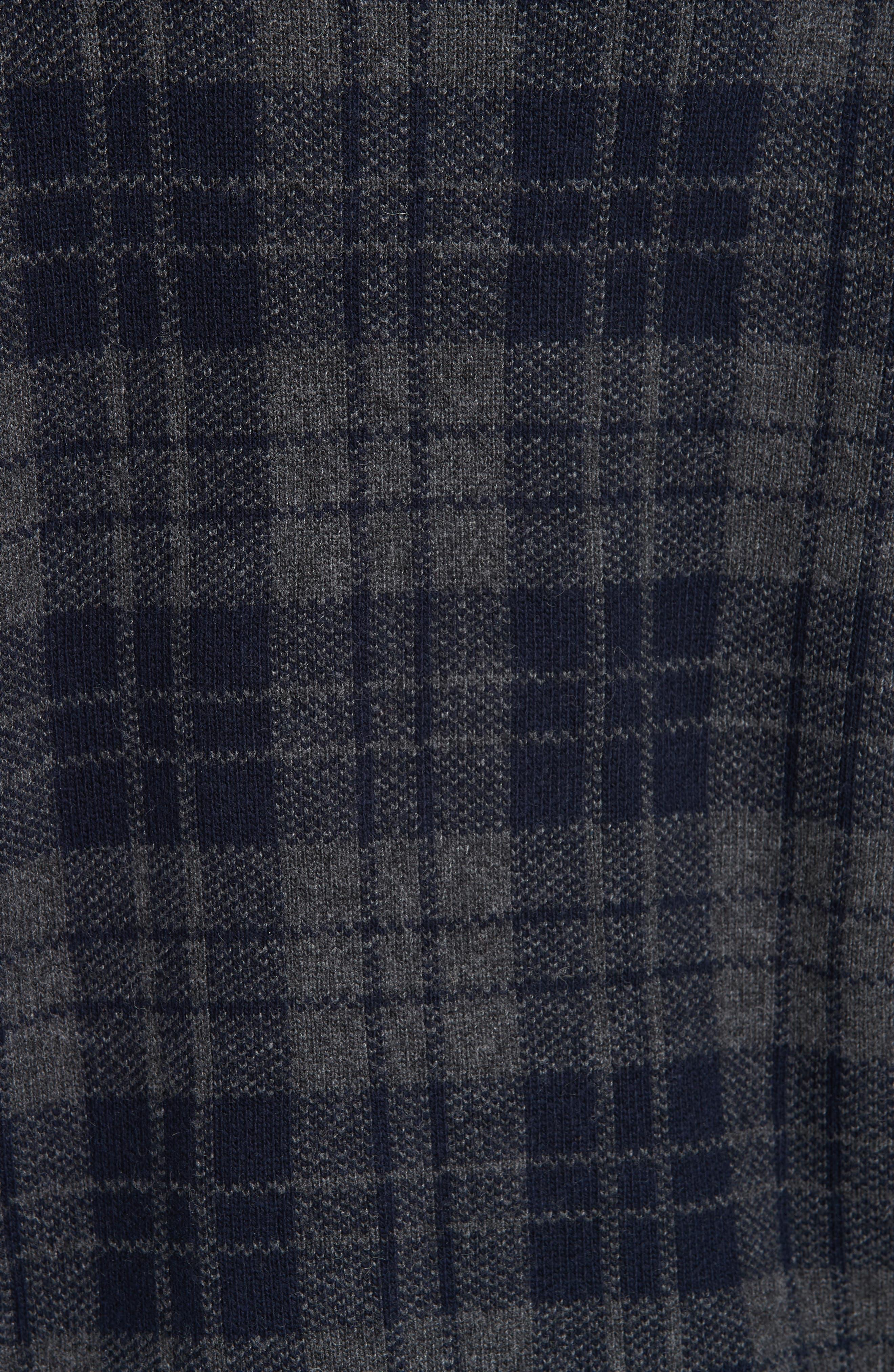 Embellished Plaid Sweater,                             Alternate thumbnail 5, color,                             405