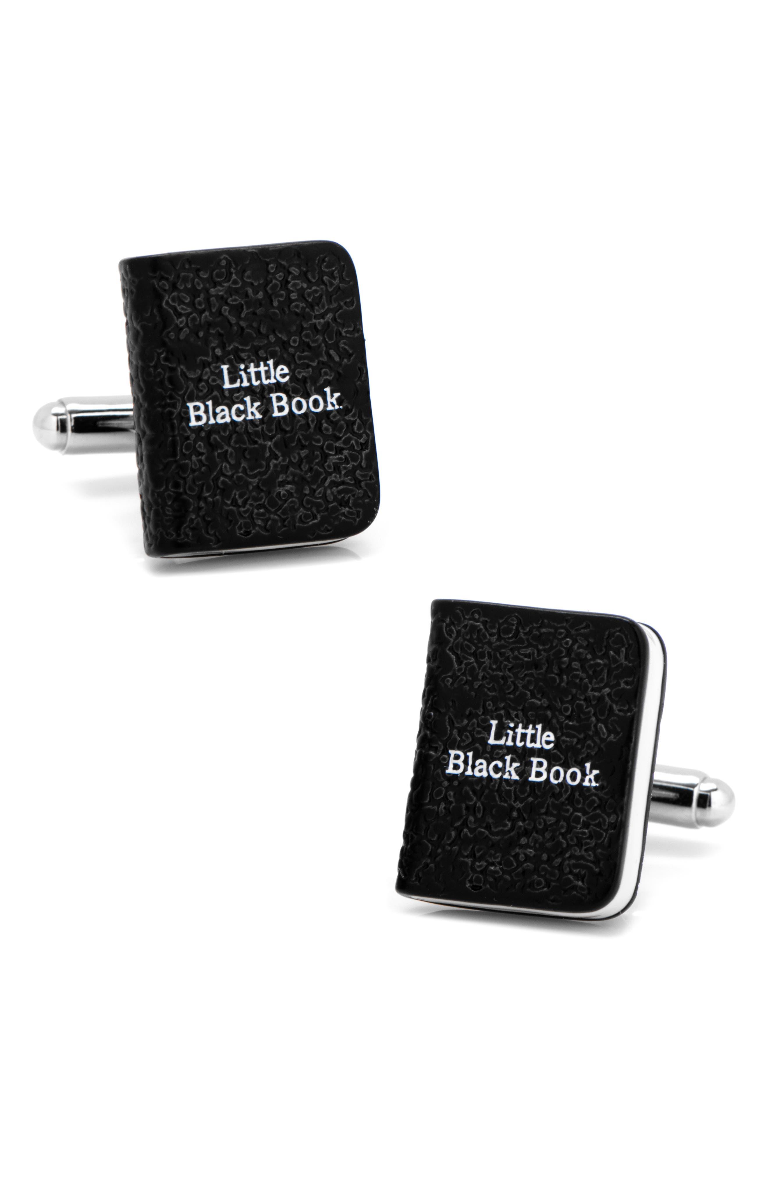 Little Black Book Cuff Links,                         Main,                         color, BLACK