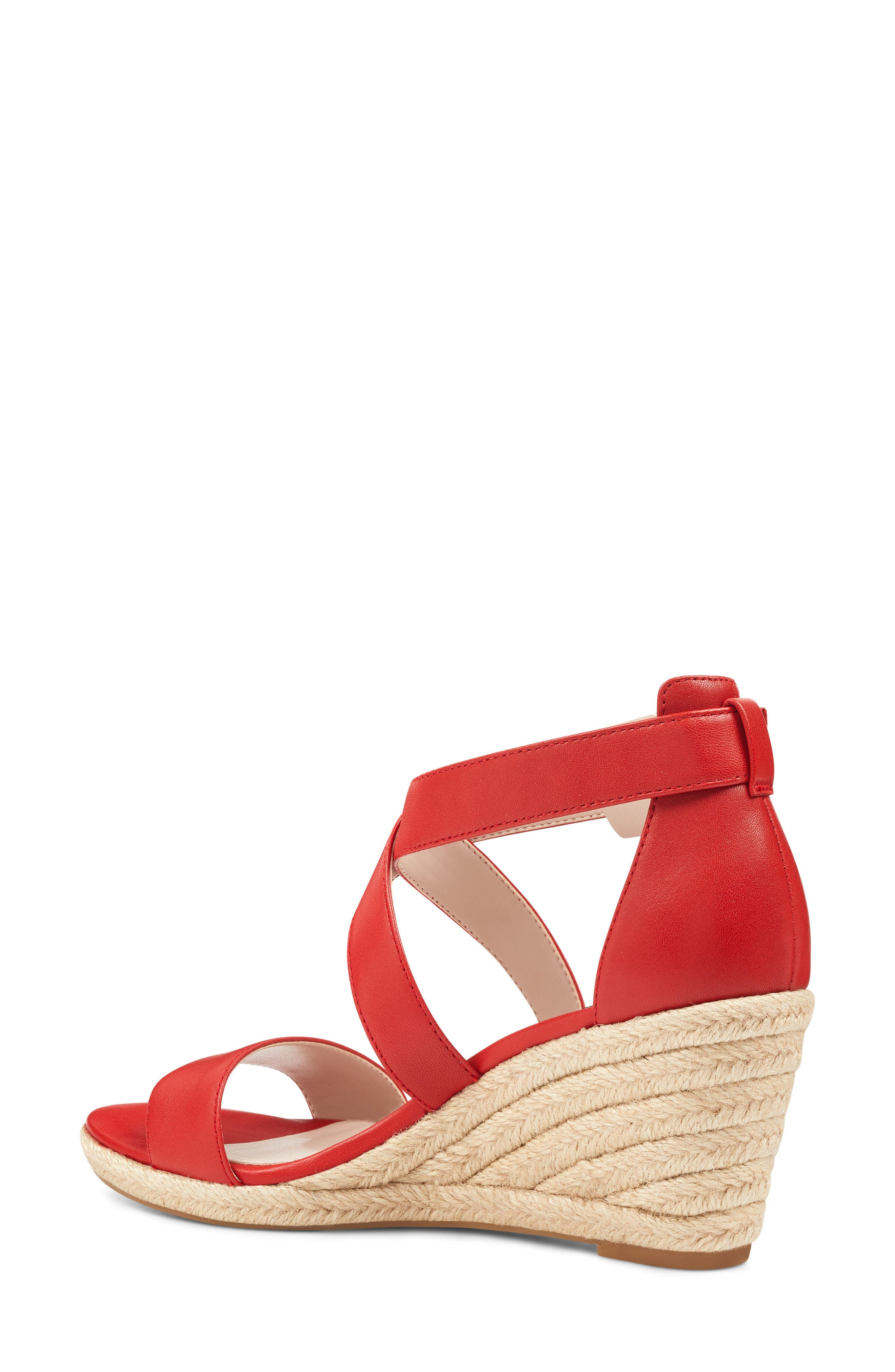 Jorjapeach Espadrille Wedge Sandal,                             Alternate thumbnail 2, color,                             RED LEATHER