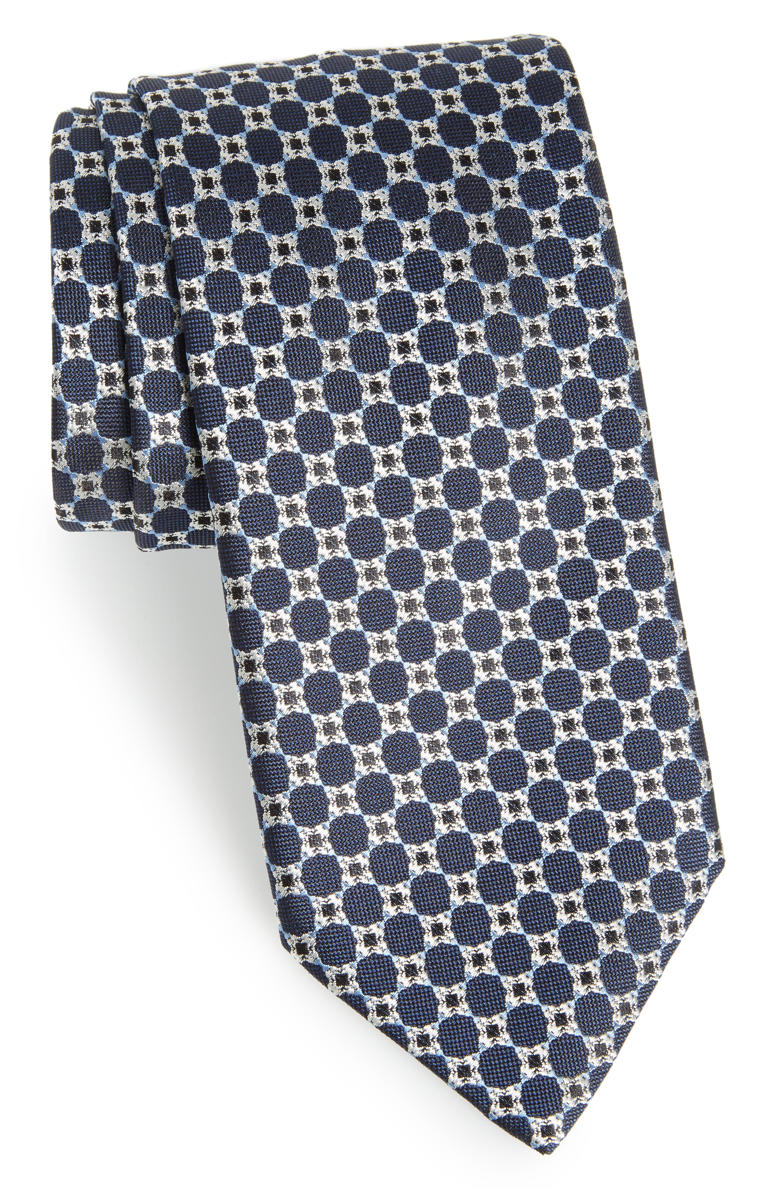 Medallion Silk Tie,                             Main thumbnail 1, color,                             467
