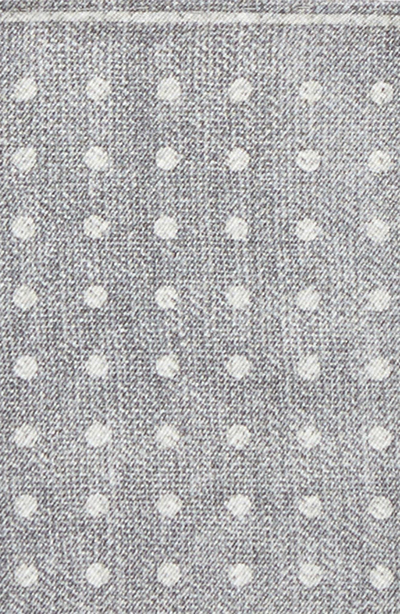 Dot Silk Pocket Square,                             Alternate thumbnail 3, color,                             020