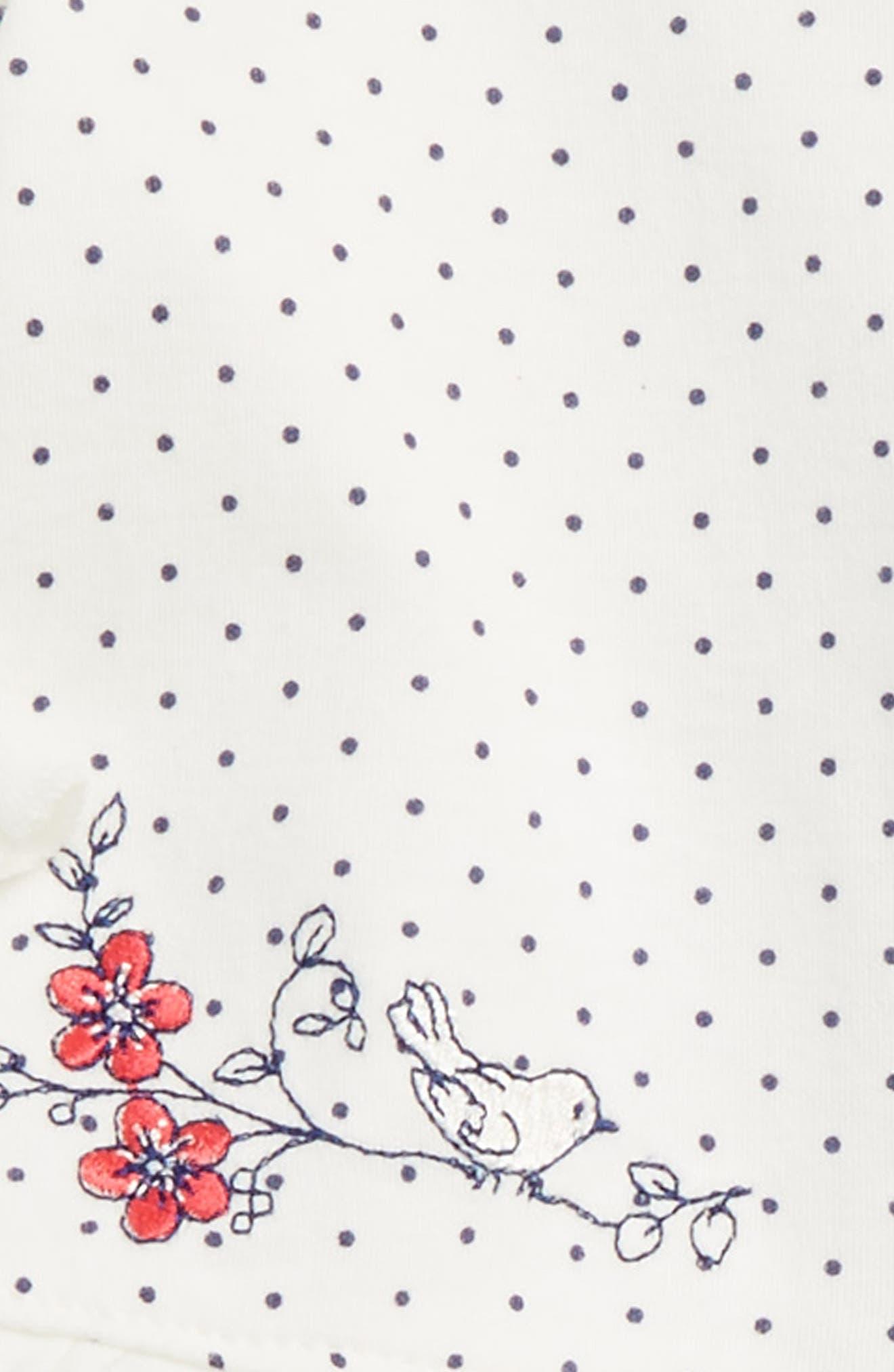 Bird Dot Cardigan, Pants & Hat Set,                             Alternate thumbnail 2, color,                             415