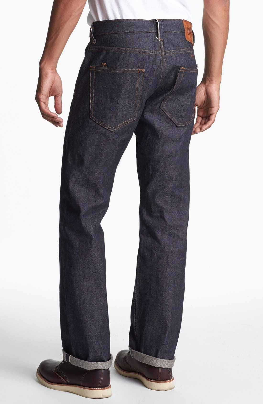'Barracuda' Straight Leg Selvedge Jeans,                             Alternate thumbnail 5, color,                             413