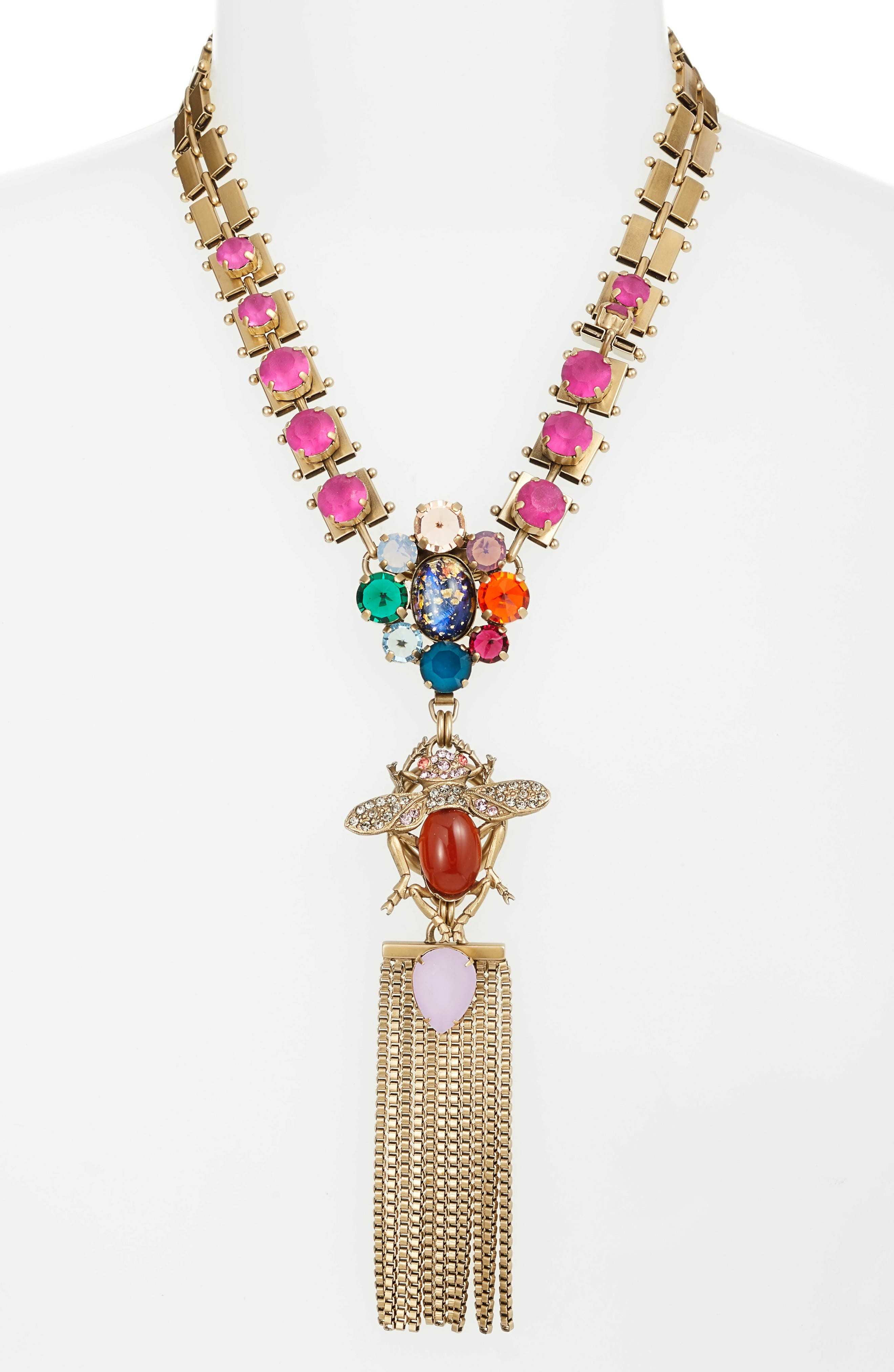 Emery Statement Pendant Necklace,                             Main thumbnail 1, color,                             GOLD MULTI