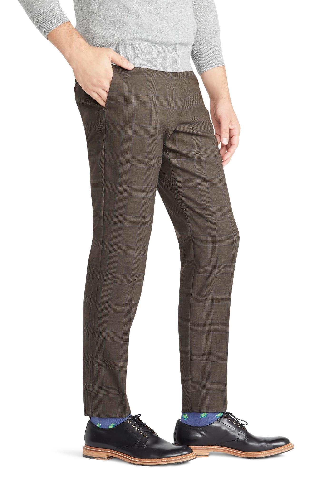 Ludlow Slim Fit Glen Plaid Wool Blend Pants,                             Alternate thumbnail 3, color,                             300