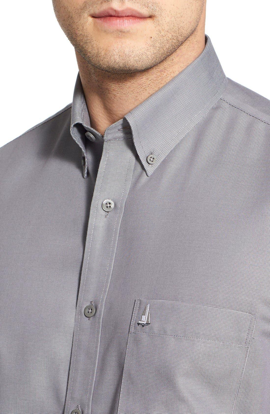 'Classic' Smartcare<sup>™</sup> Regular Fit Short Sleeve Cotton Sport Shirt,                             Alternate thumbnail 27, color,