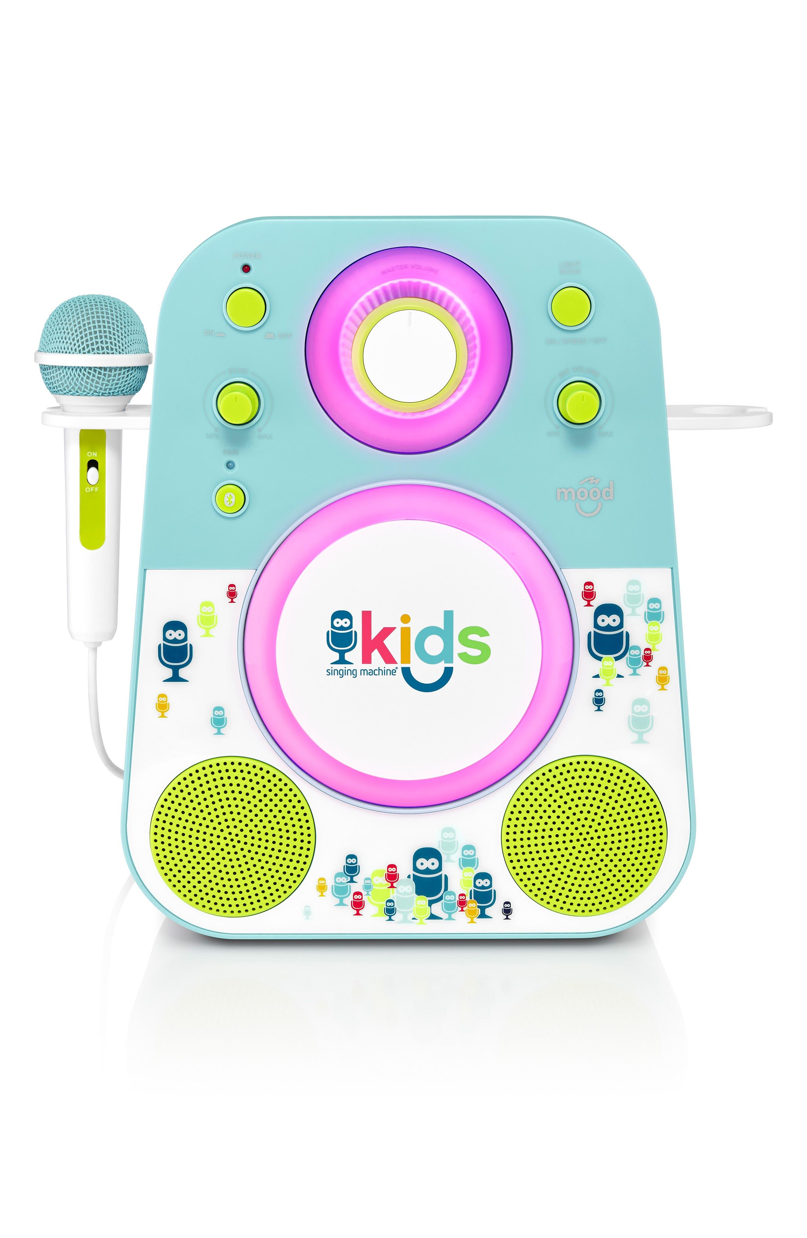 Kids Mood Karaoke System,                         Main,                         color, BLUE GREEN
