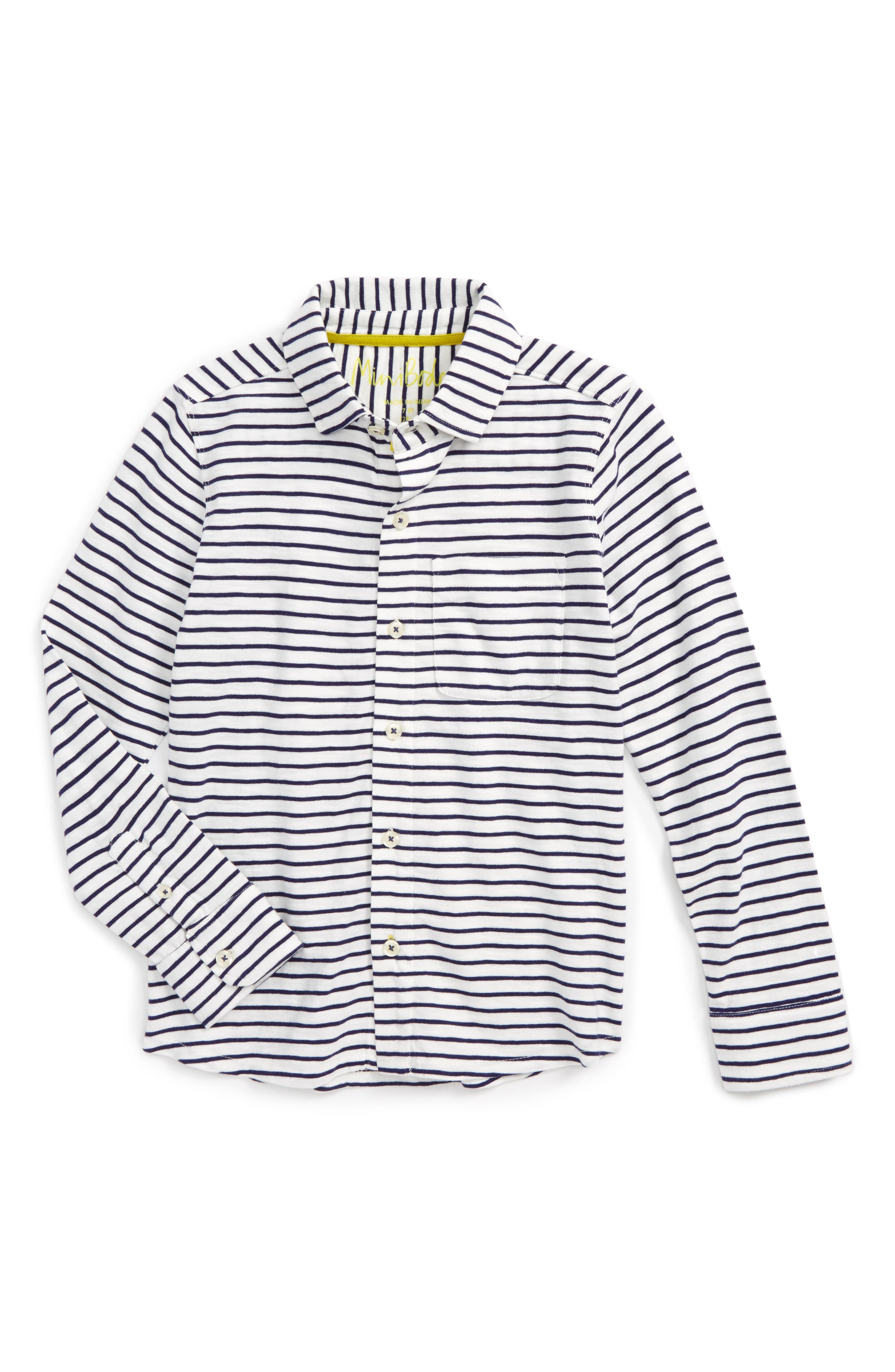 Stripe Jersey Shirt,                         Main,                         color, 904