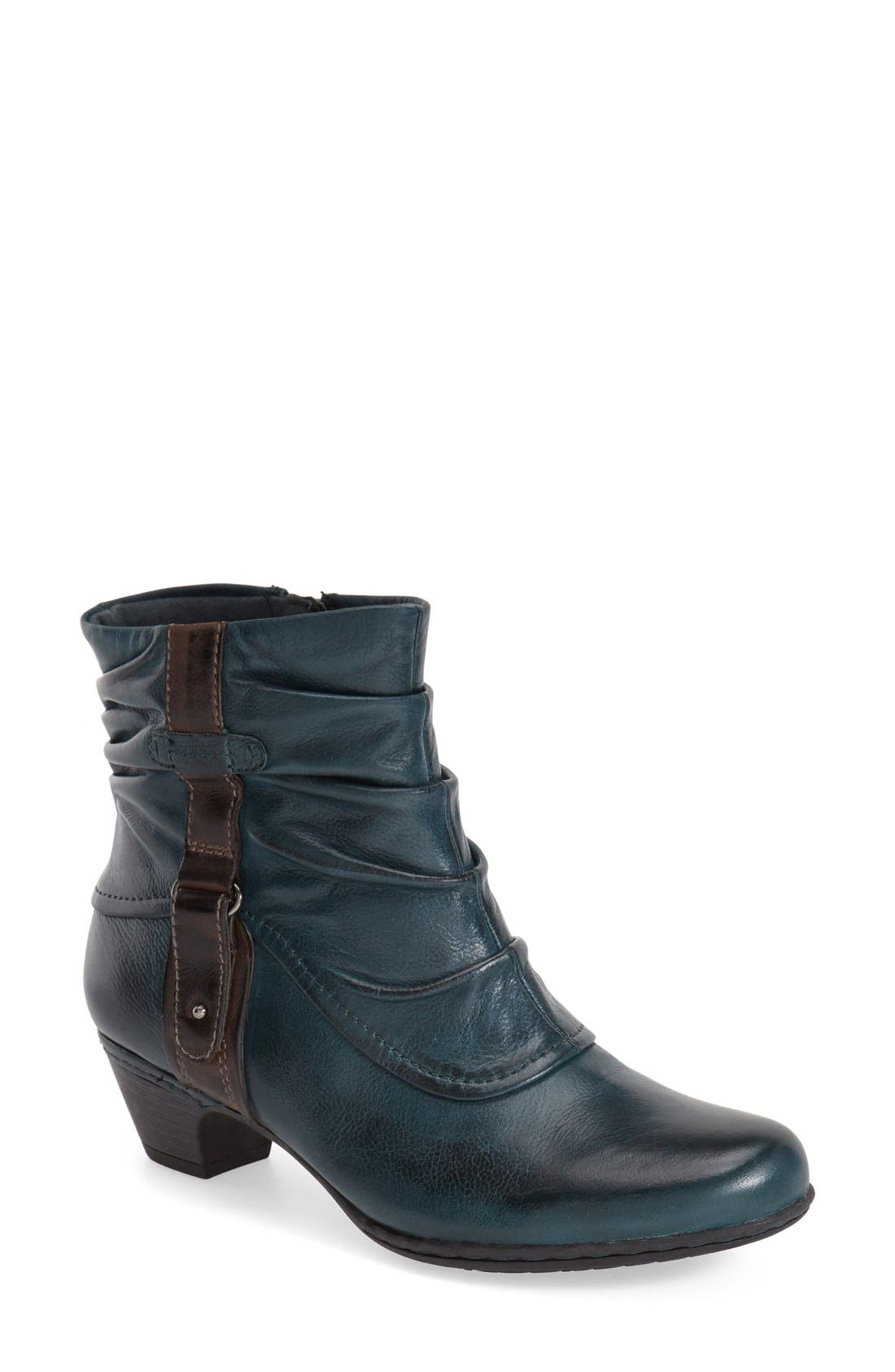 'Alexandra' Boot,                         Main,                         color, BLUE/ TEAL LEATHER
