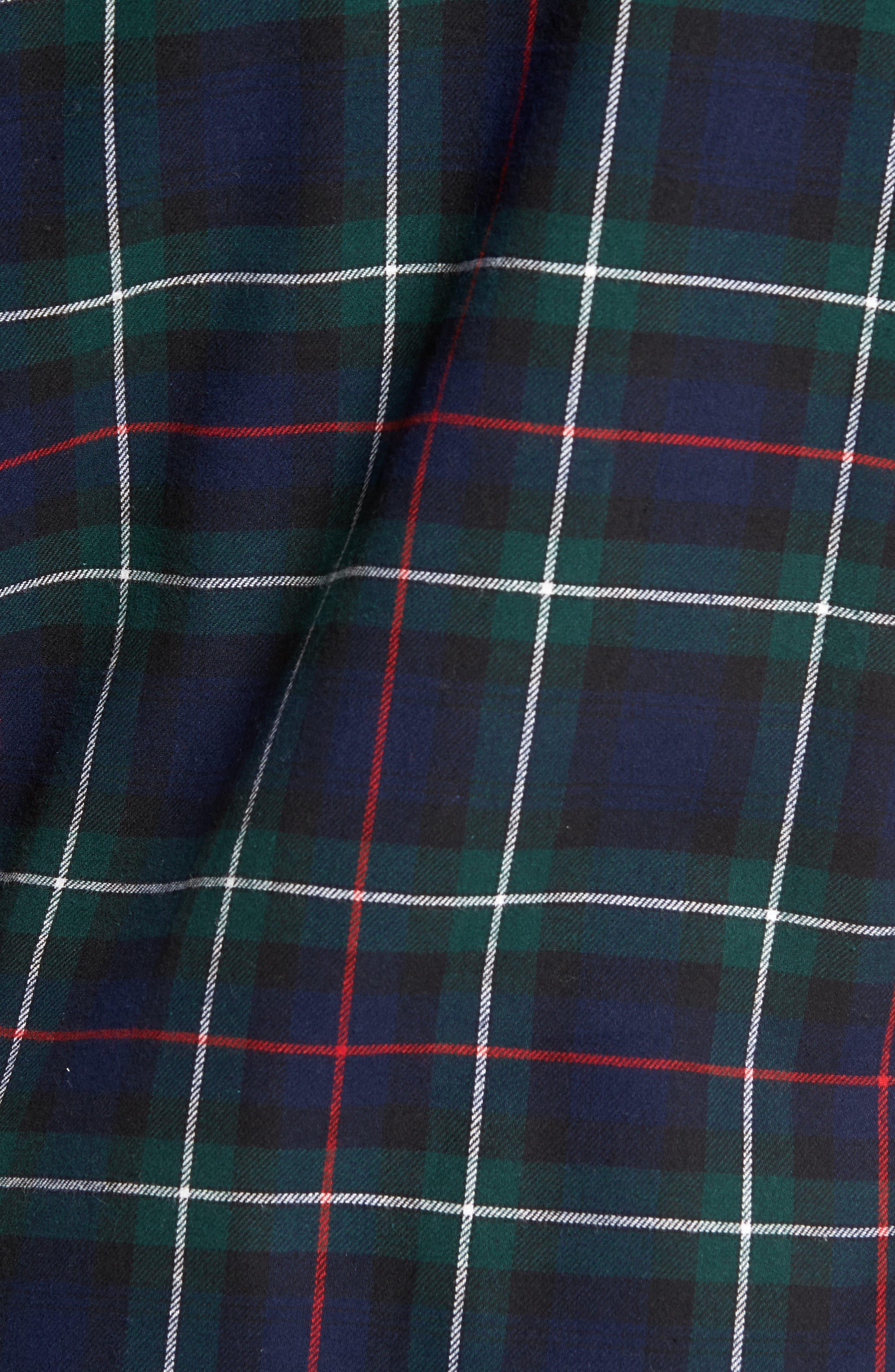 Polo Ralph Lauren Flannel Pajama Shirt,                             Alternate thumbnail 18, color,