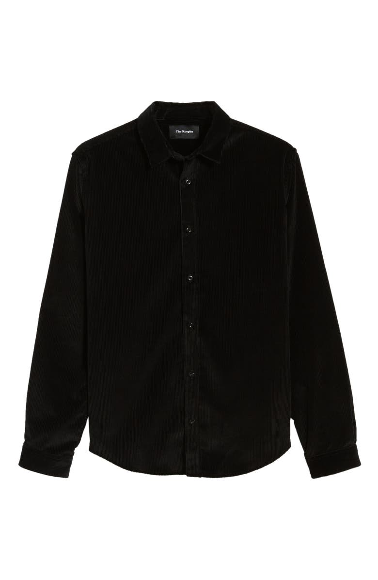 eaa3d947 The Kooples Lizzy Ribbed Regular Fit Button-Down Shirt In Black ...