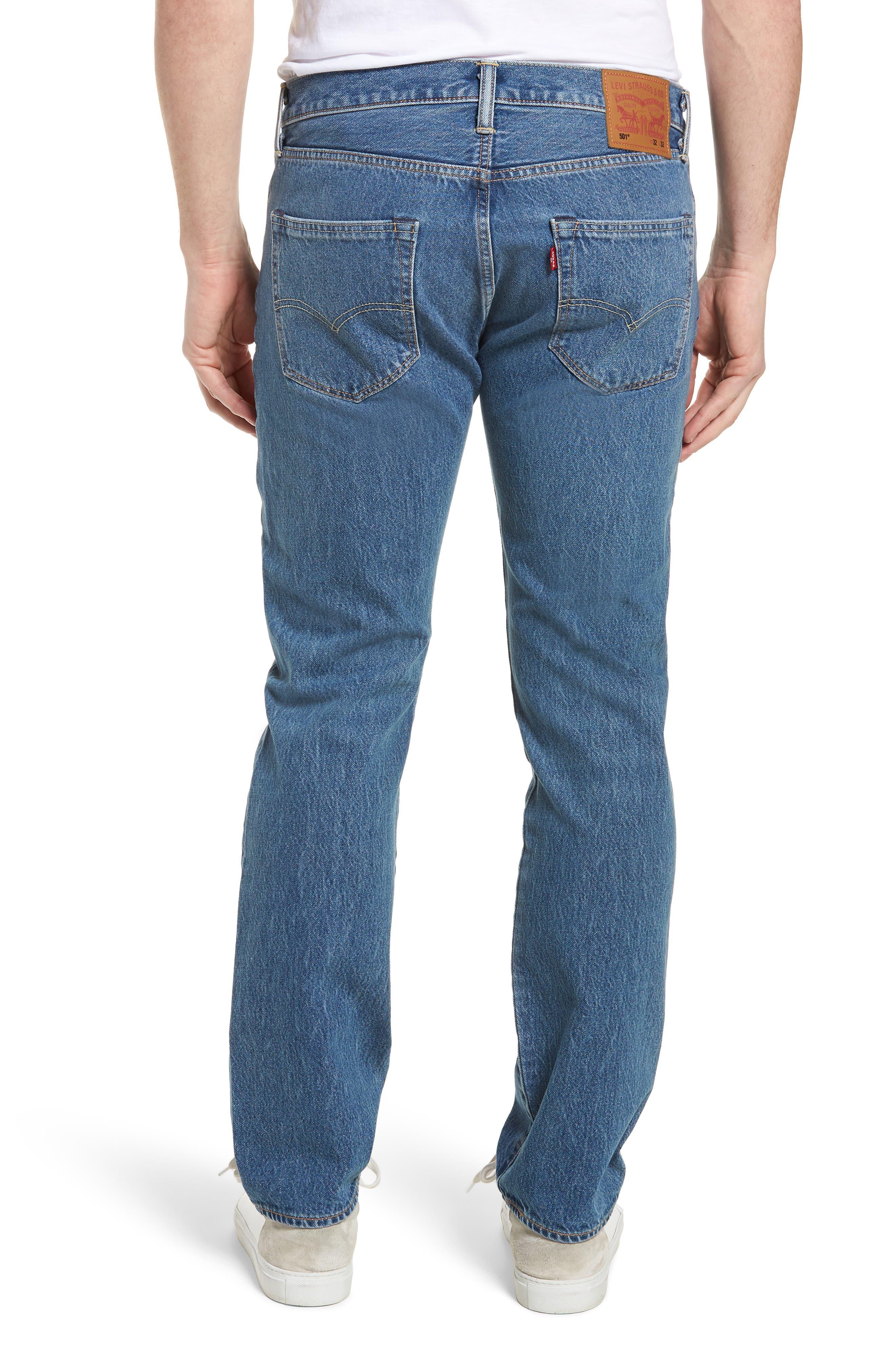 501<sup>™</sup> Straight Leg Jeans,                             Alternate thumbnail 2, color,