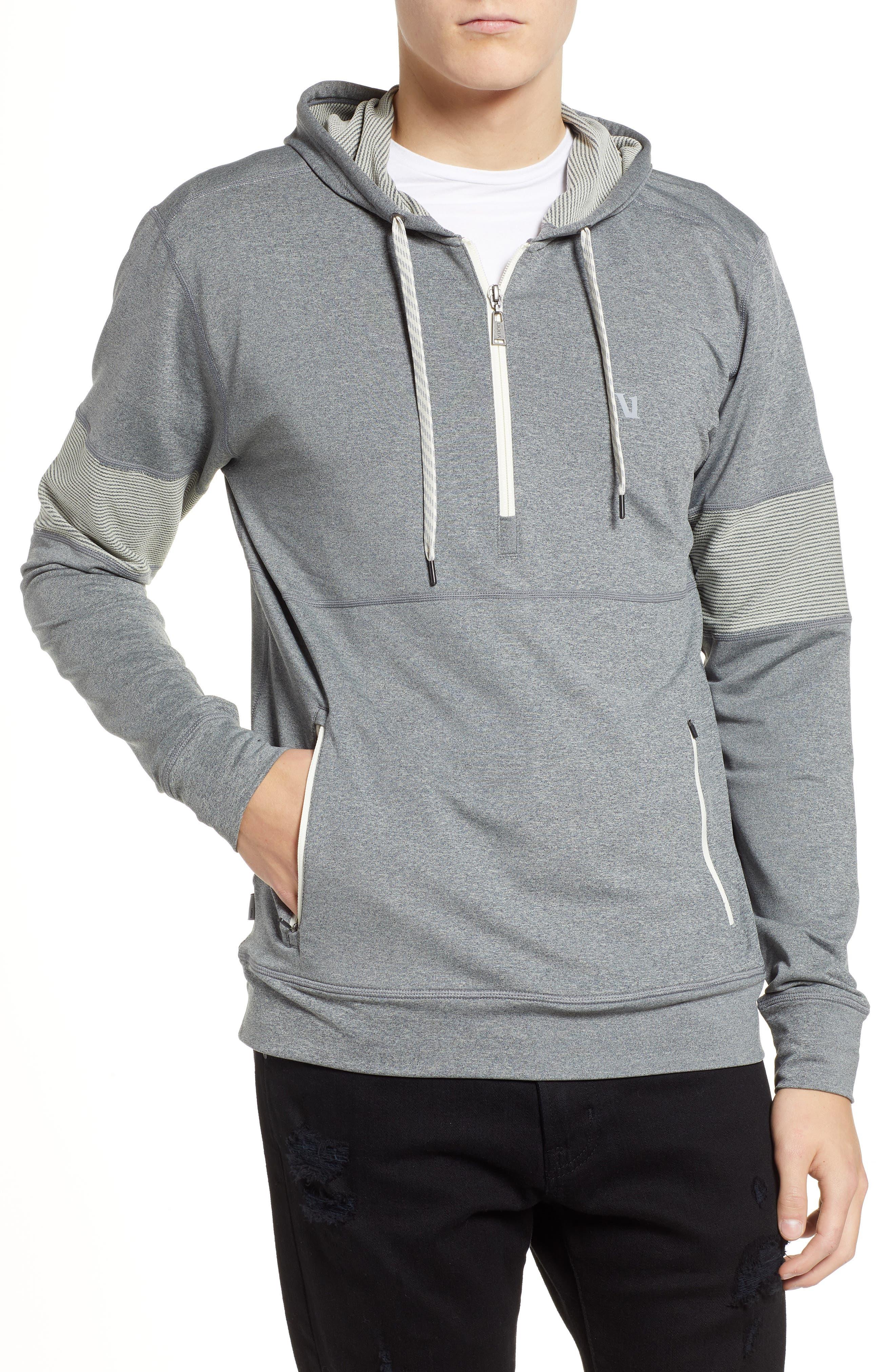 Zion Half Zip Pullover Hoodie,                         Main,                         color, HEATHER GREY