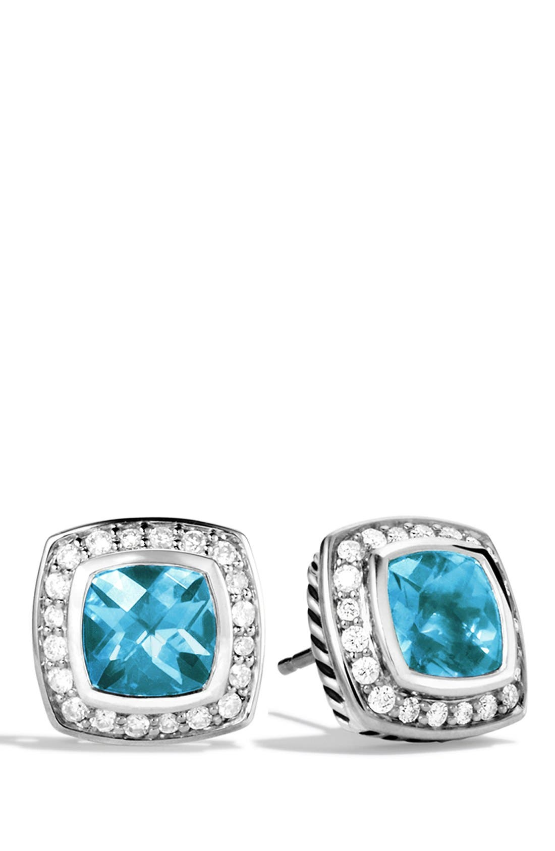 'Albion' Petite Earrings with Semiprecious Stones & Diamonds,                             Main thumbnail 4, color,