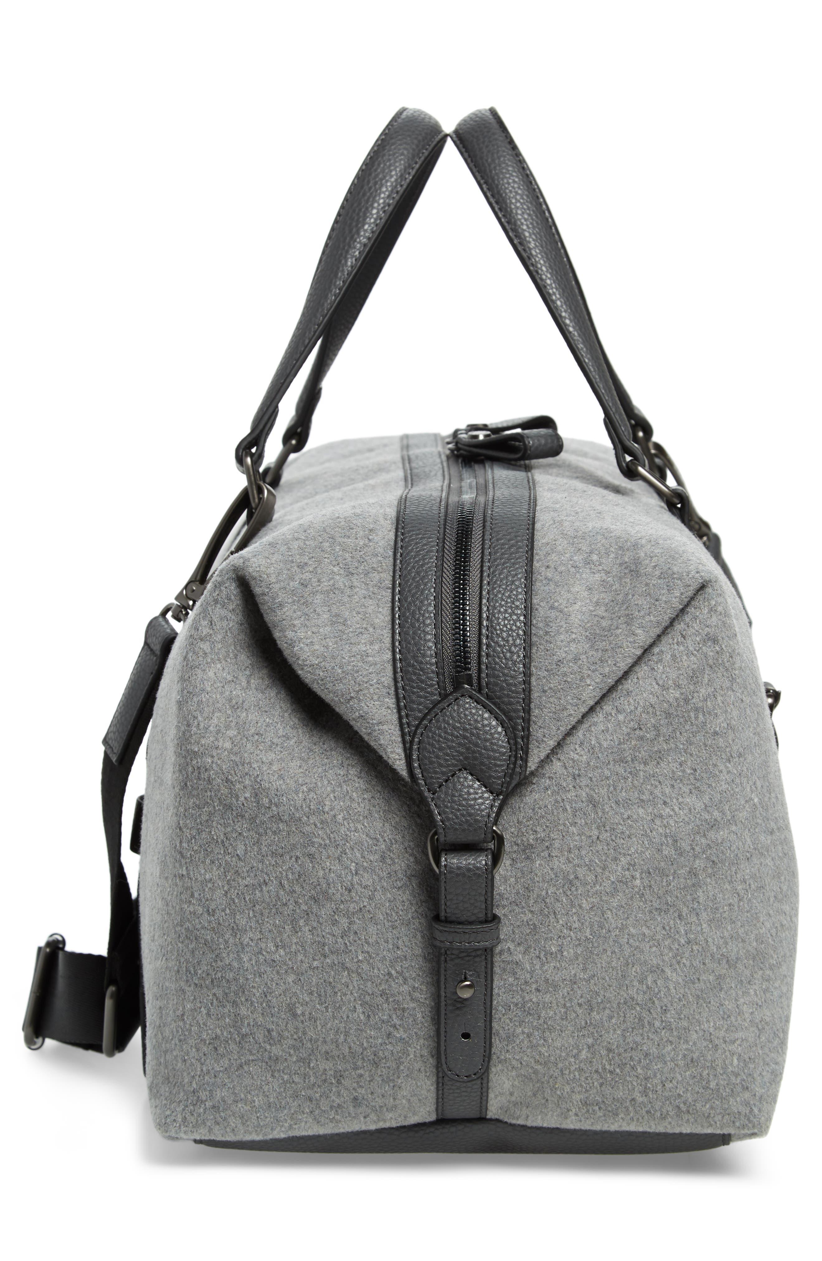 Knitts Duffel Bag,                             Alternate thumbnail 5, color,                             GREY