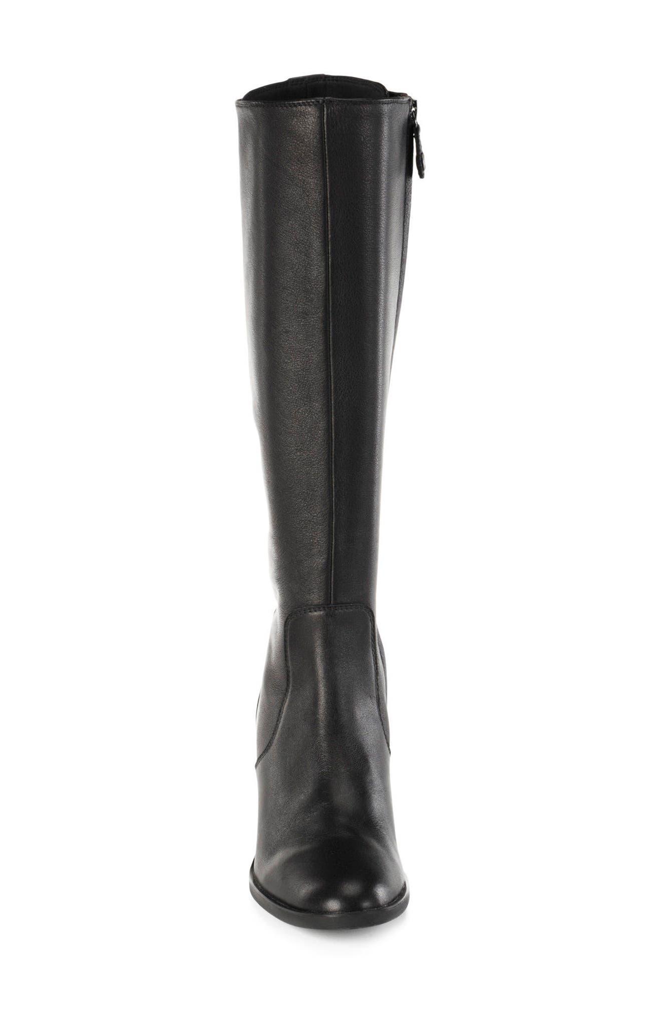 Glynna Knee High Boot,                             Alternate thumbnail 4, color,                             001