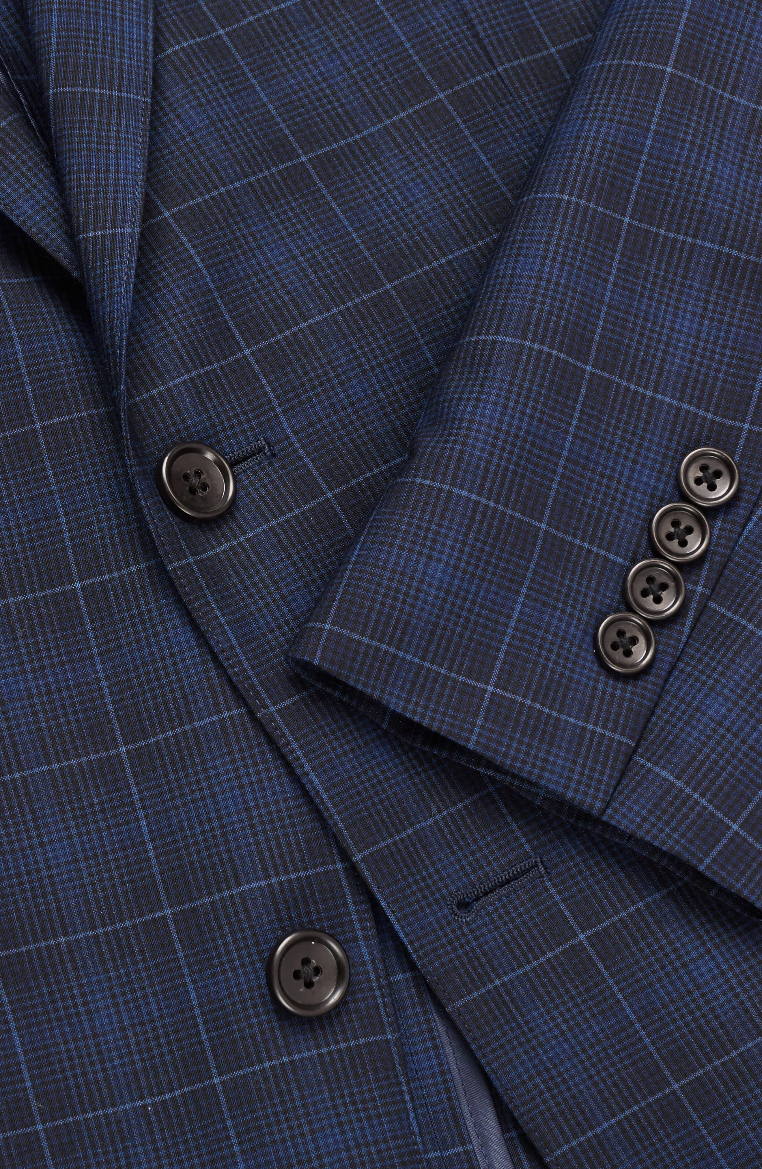 Jetsetter Slim Fit Plaid Wool Sport Coat,                             Alternate thumbnail 3, color,                             400