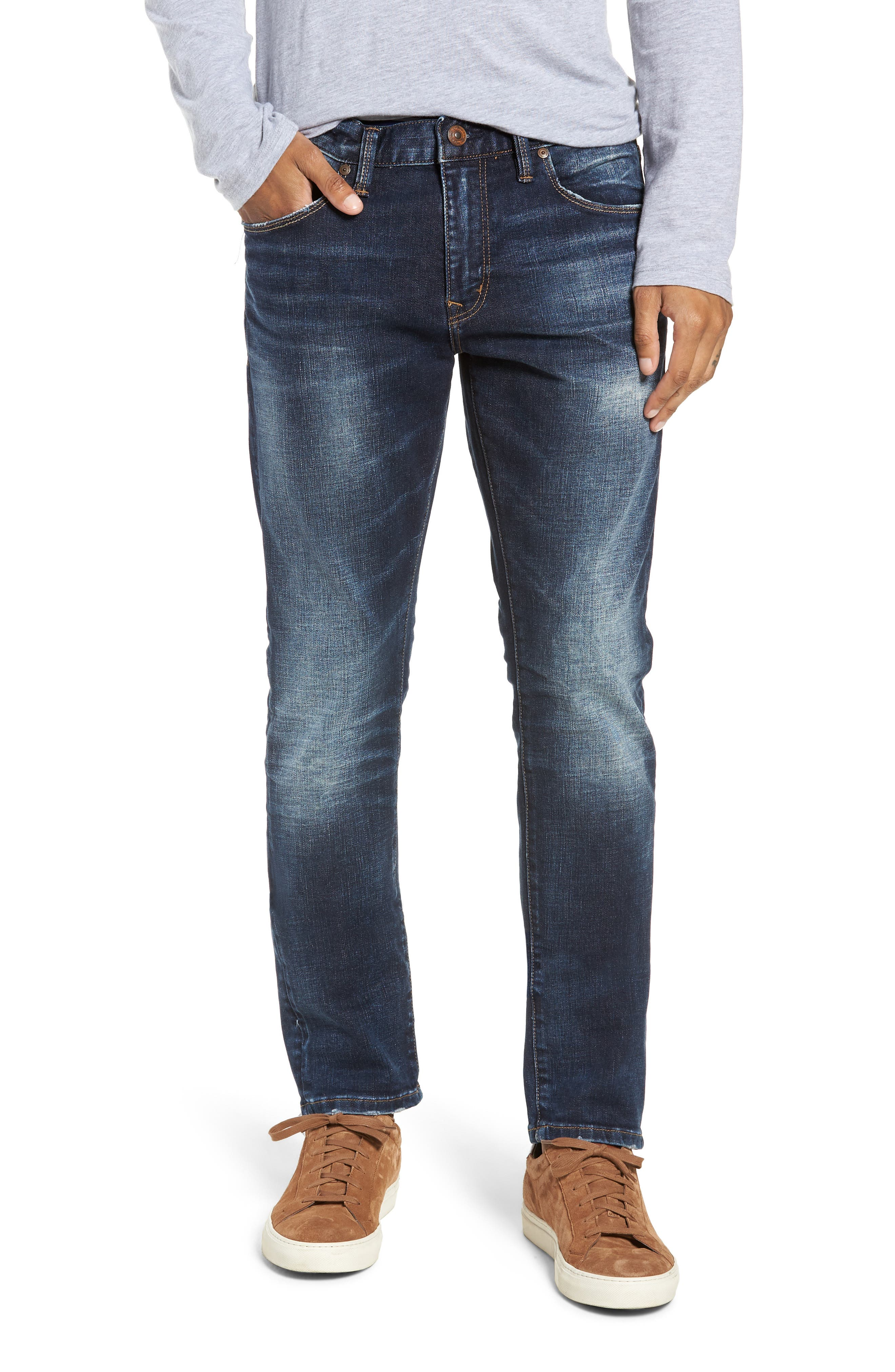 SILVER JEANS CO. Ashdown Slim Straight Fit Jeans, Main, color, INDIGO