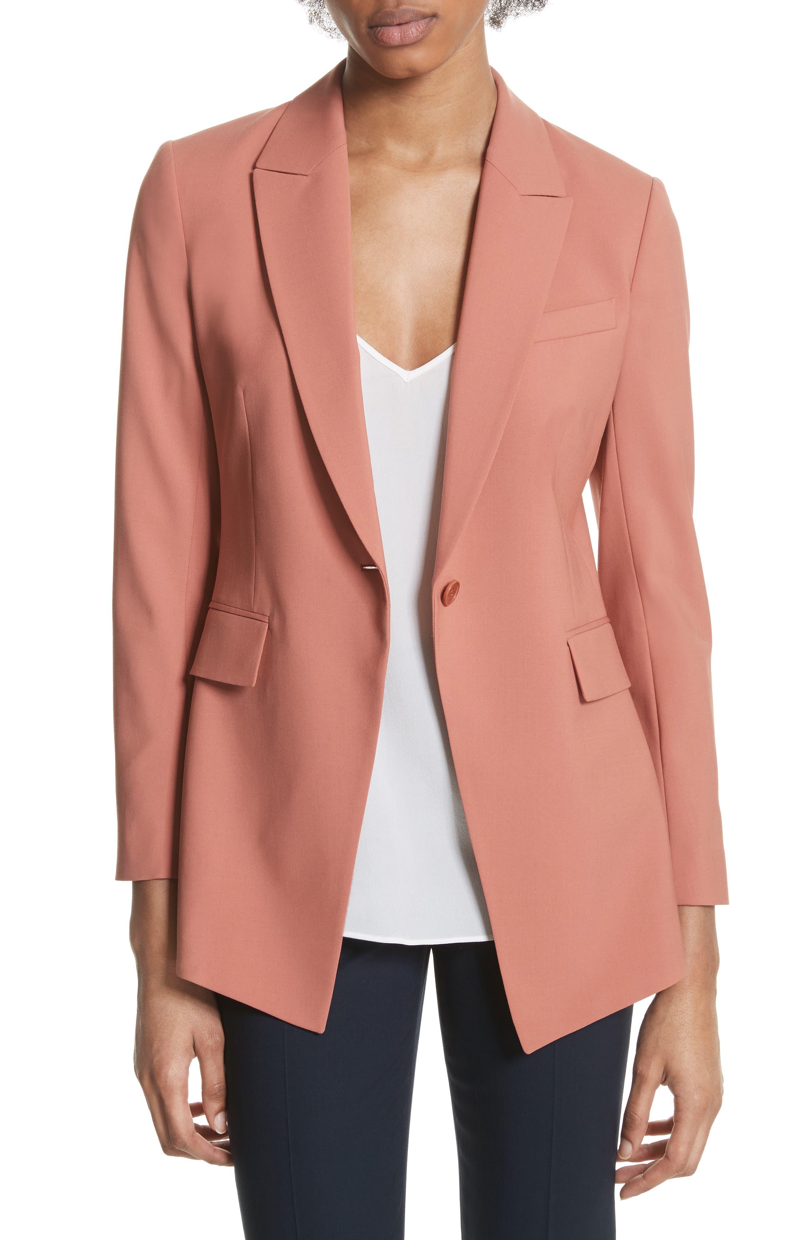 Etienette B Good Wool Suit Jacket,                             Main thumbnail 4, color,