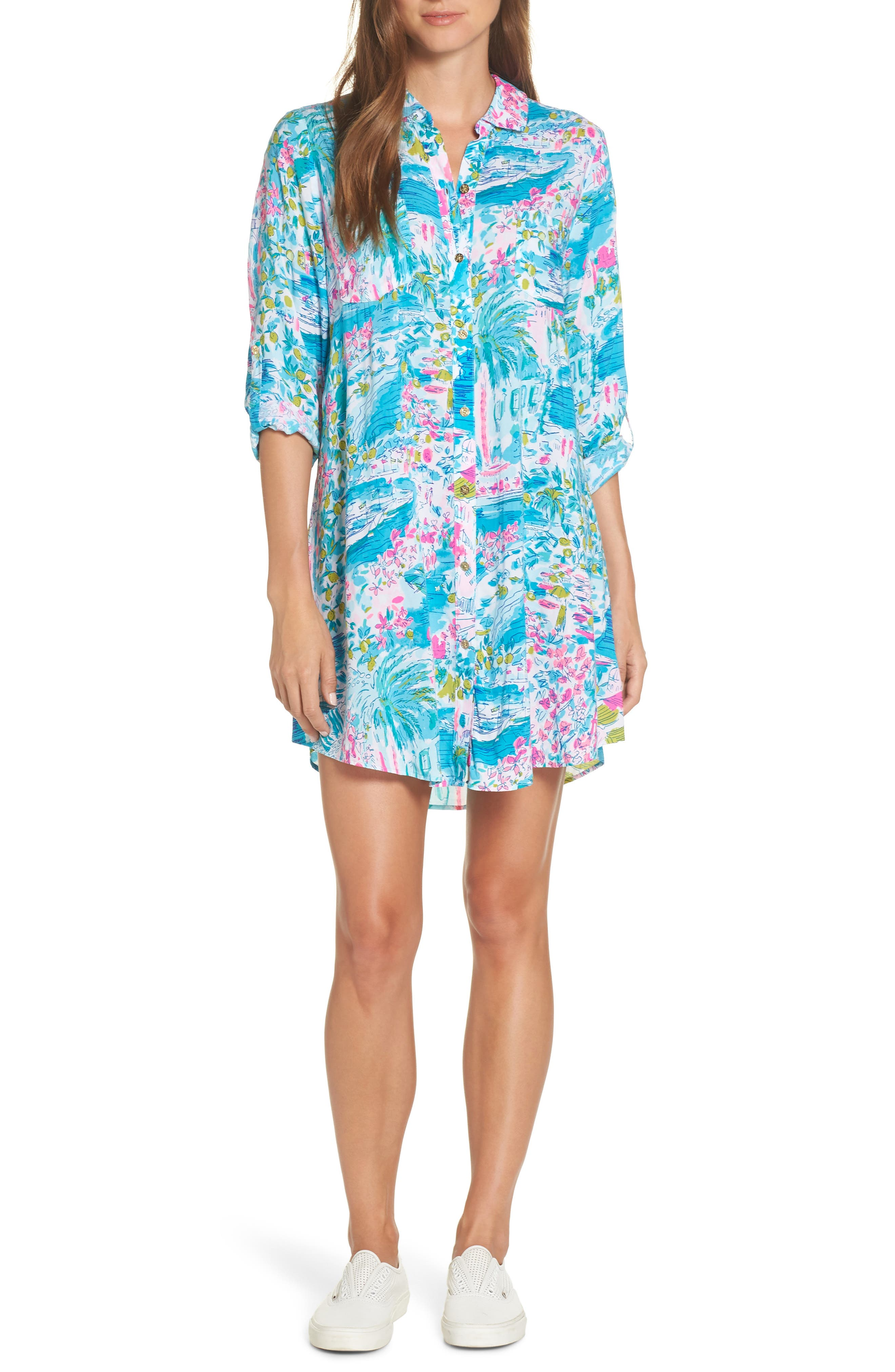 Natalie Shirtdress Cover Up by Lilly Pulitzer®