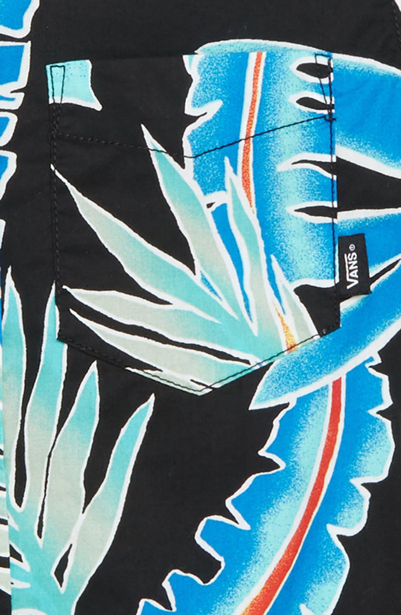 Tropical Floral Woven Shirt,                             Alternate thumbnail 2, color,                             001