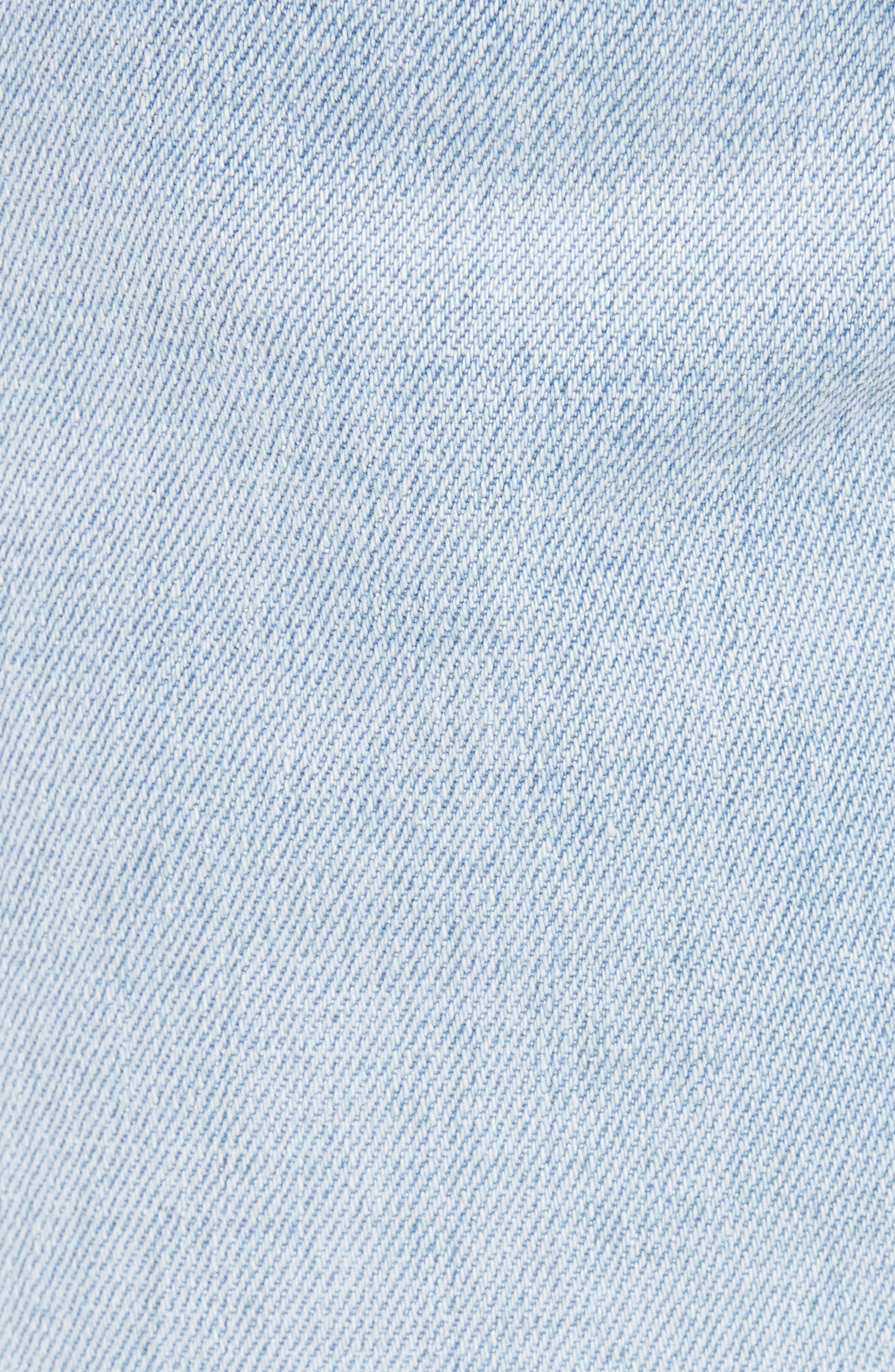 Ripped Skinny Jeans,                             Alternate thumbnail 5, color,                             BLUE CORGAN WASH