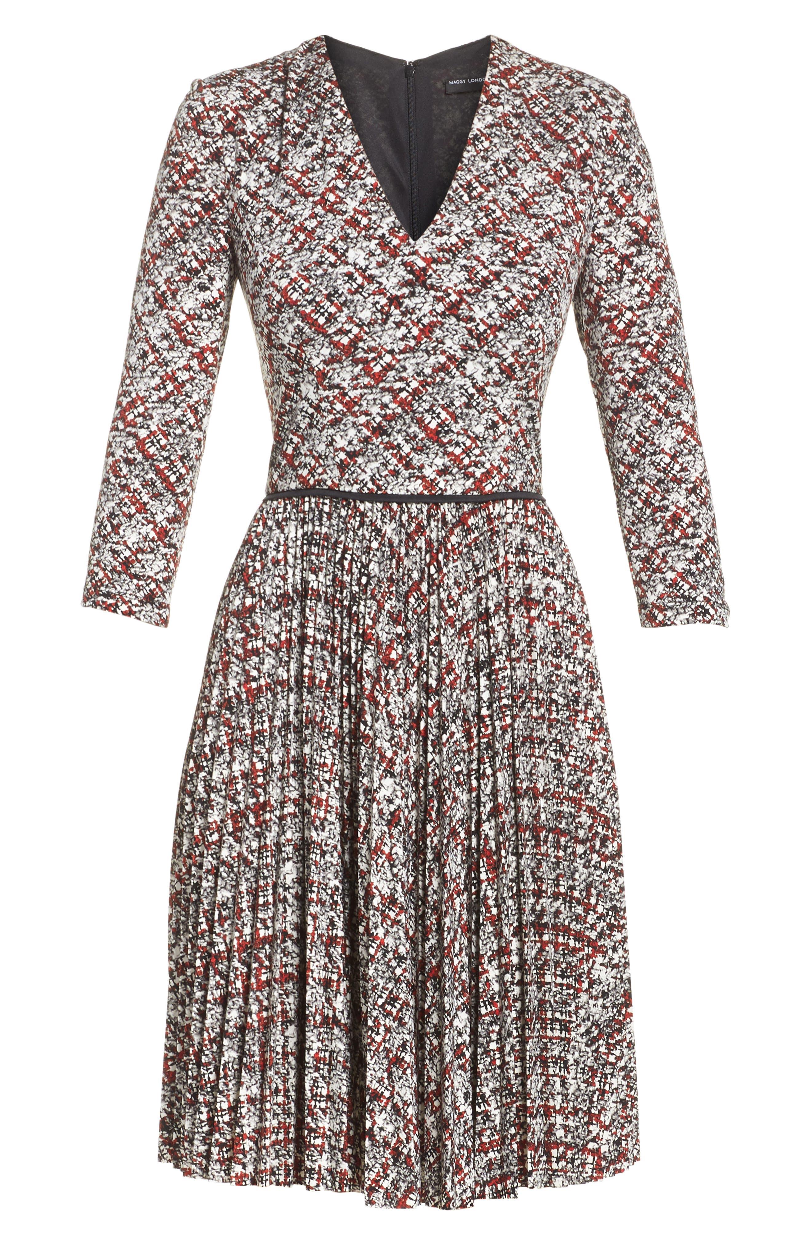 Fit & Flare Dress,                             Alternate thumbnail 6, color,