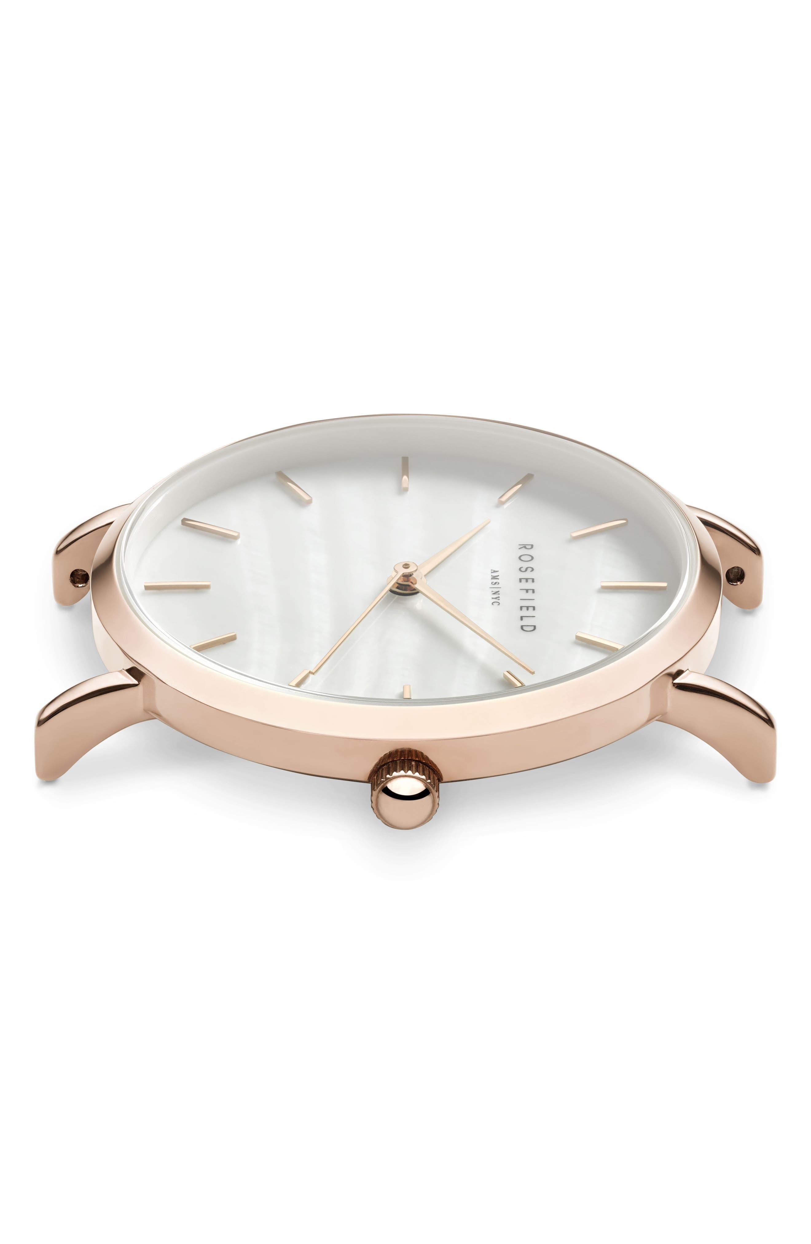 Upper East Side Bracelet Watch, 33mm,                             Alternate thumbnail 2, color,                             ROSE GOLD/ WHITE/ ROSE GOLD