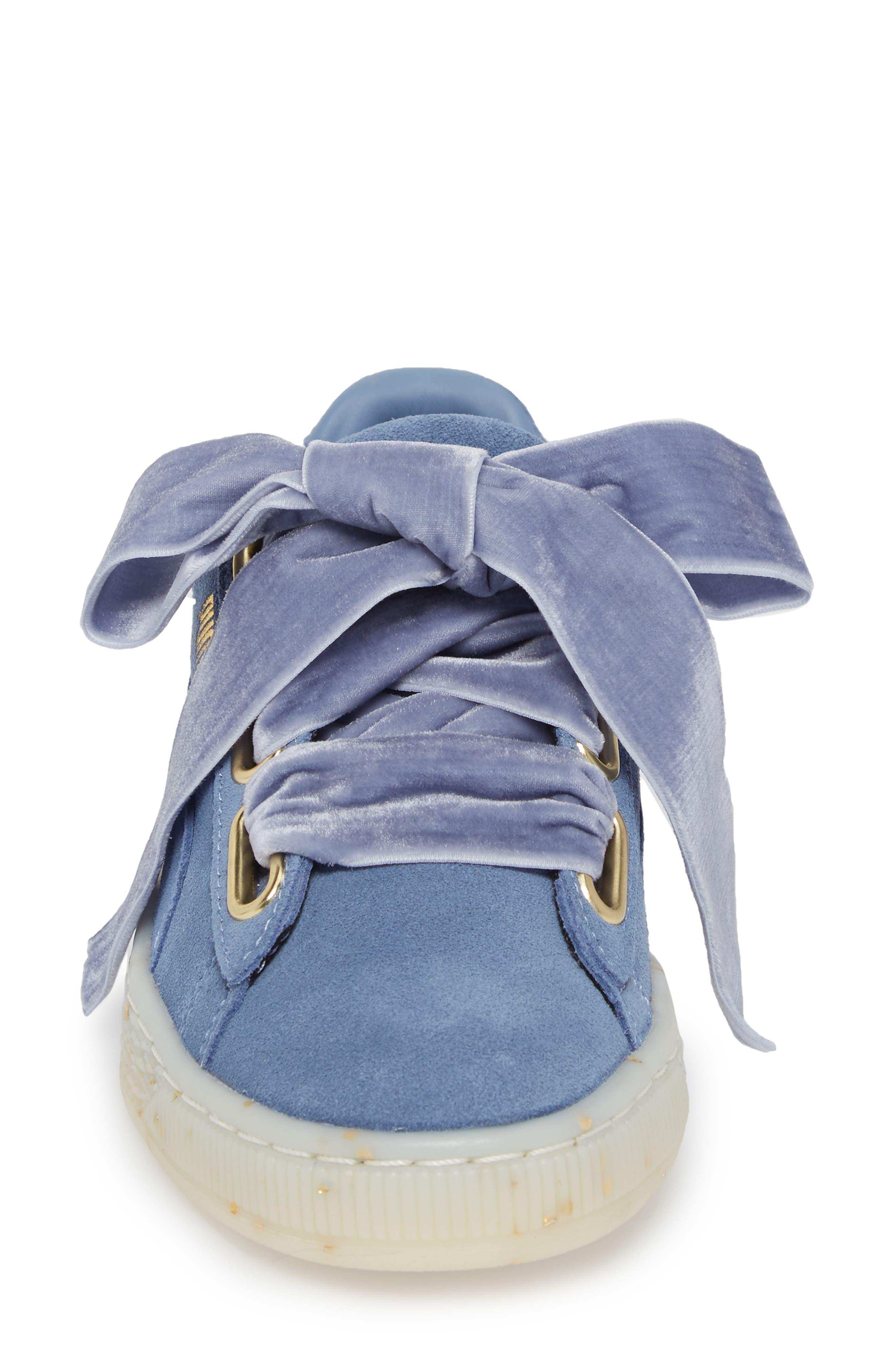 Suede - Heart Sneaker,                             Alternate thumbnail 26, color,