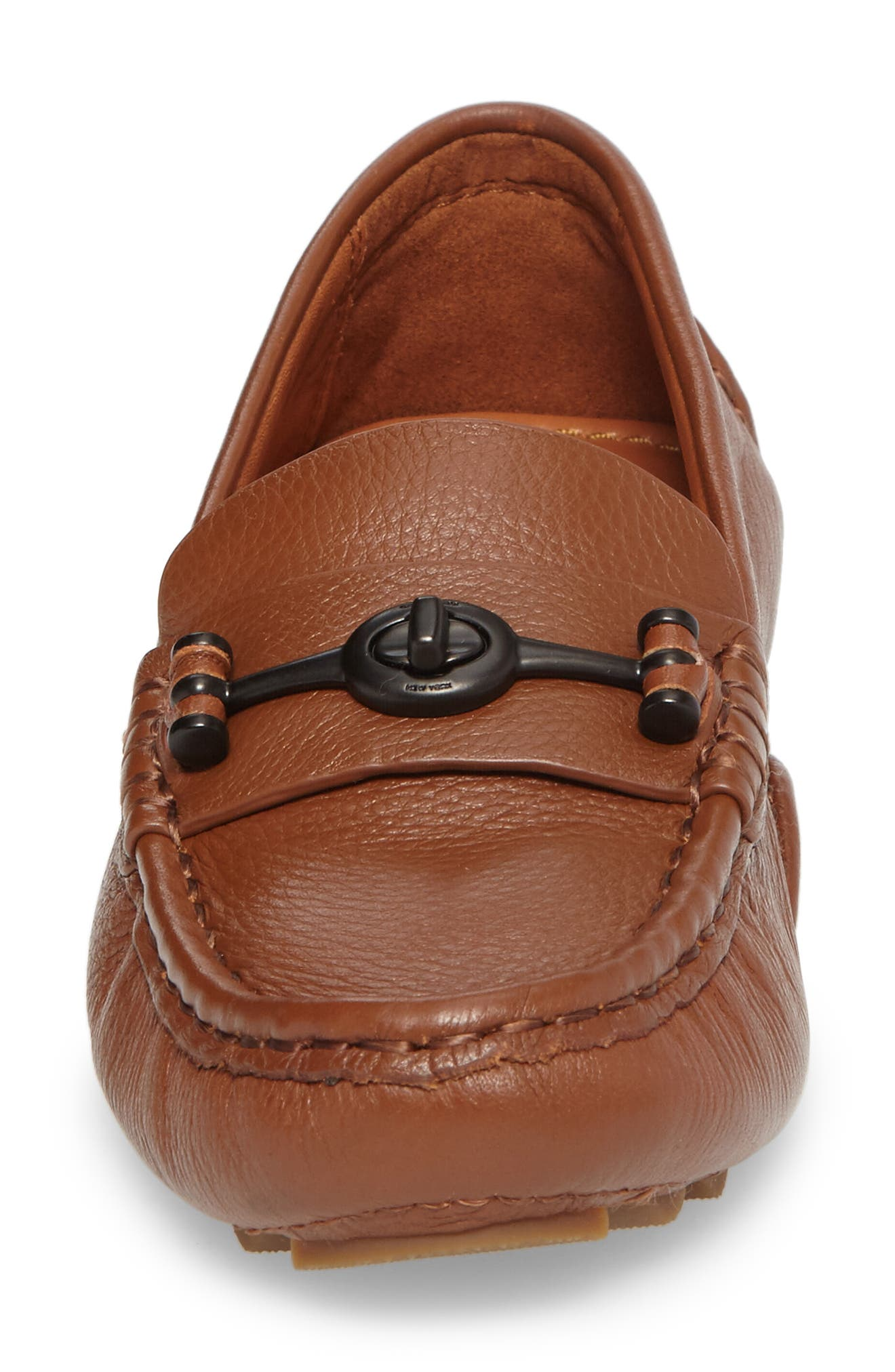 Crosby Driver Loafer,                             Alternate thumbnail 4, color,                             SADDLE LEATHER