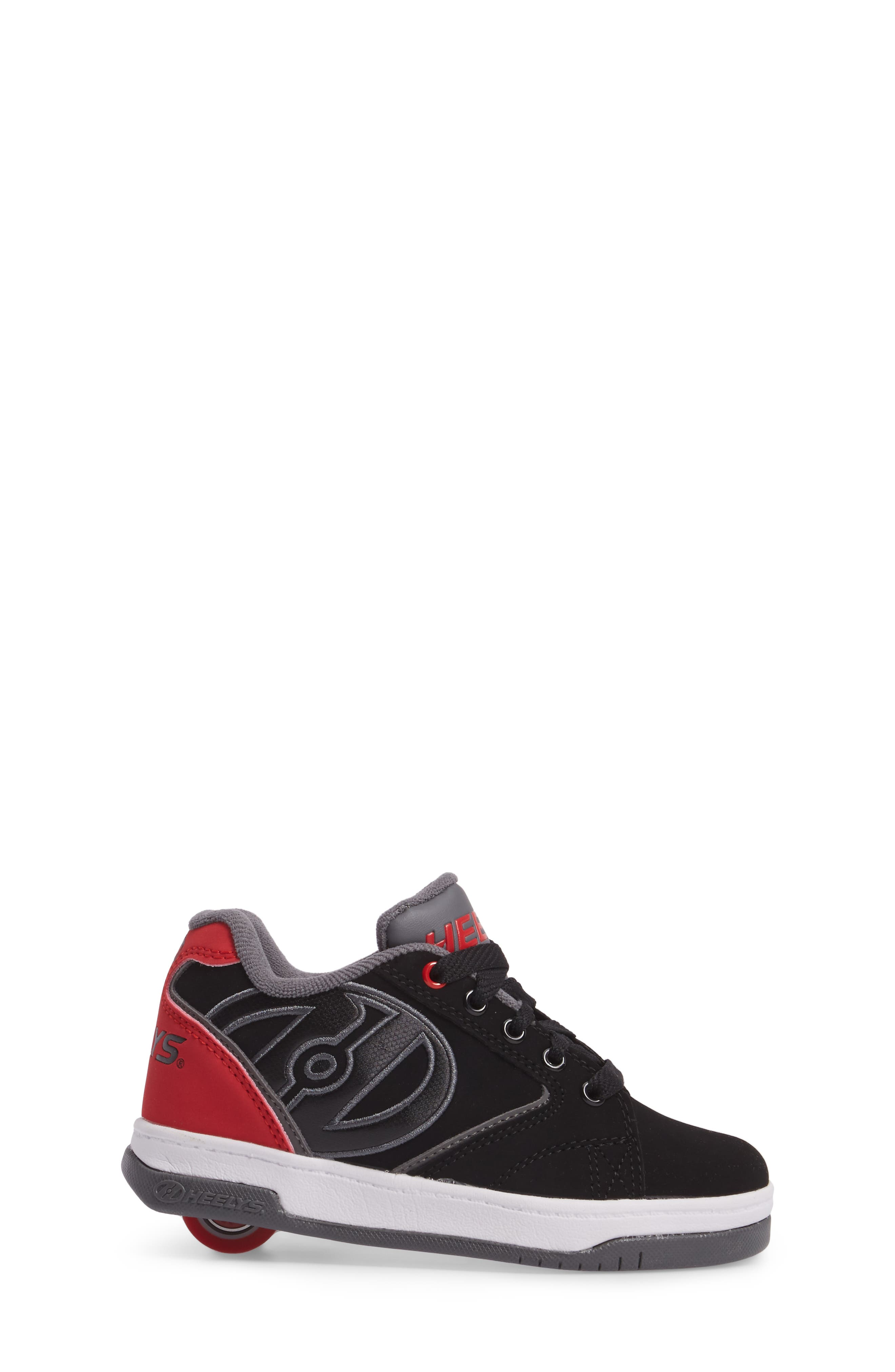 Heeleys'Propel 2.0' Sneaker,                             Alternate thumbnail 3, color,                             BLACK/ RED/ GREY