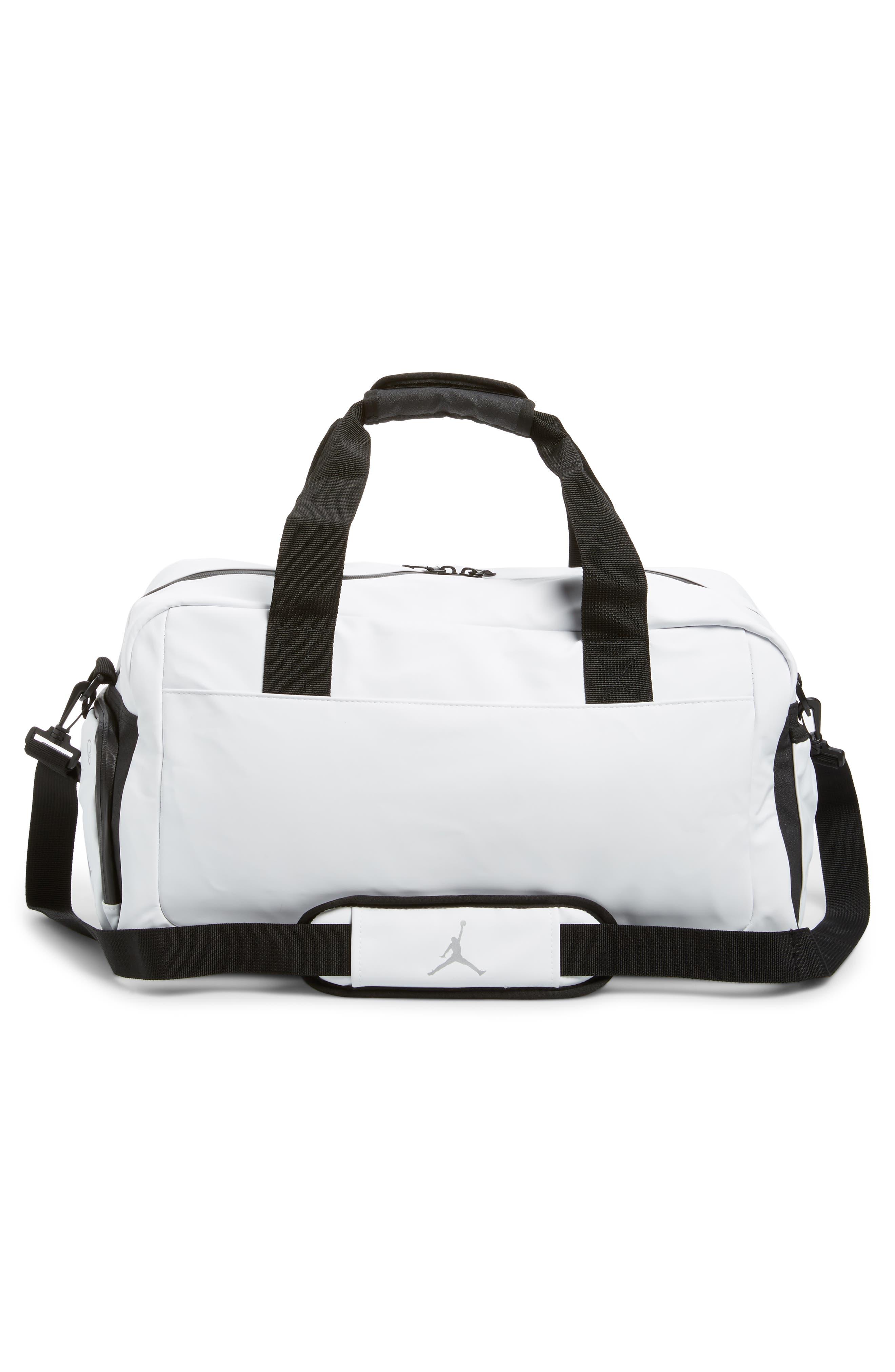 Jordan All World Edition Duffel Bag,                             Alternate thumbnail 2, color,                             WHITE