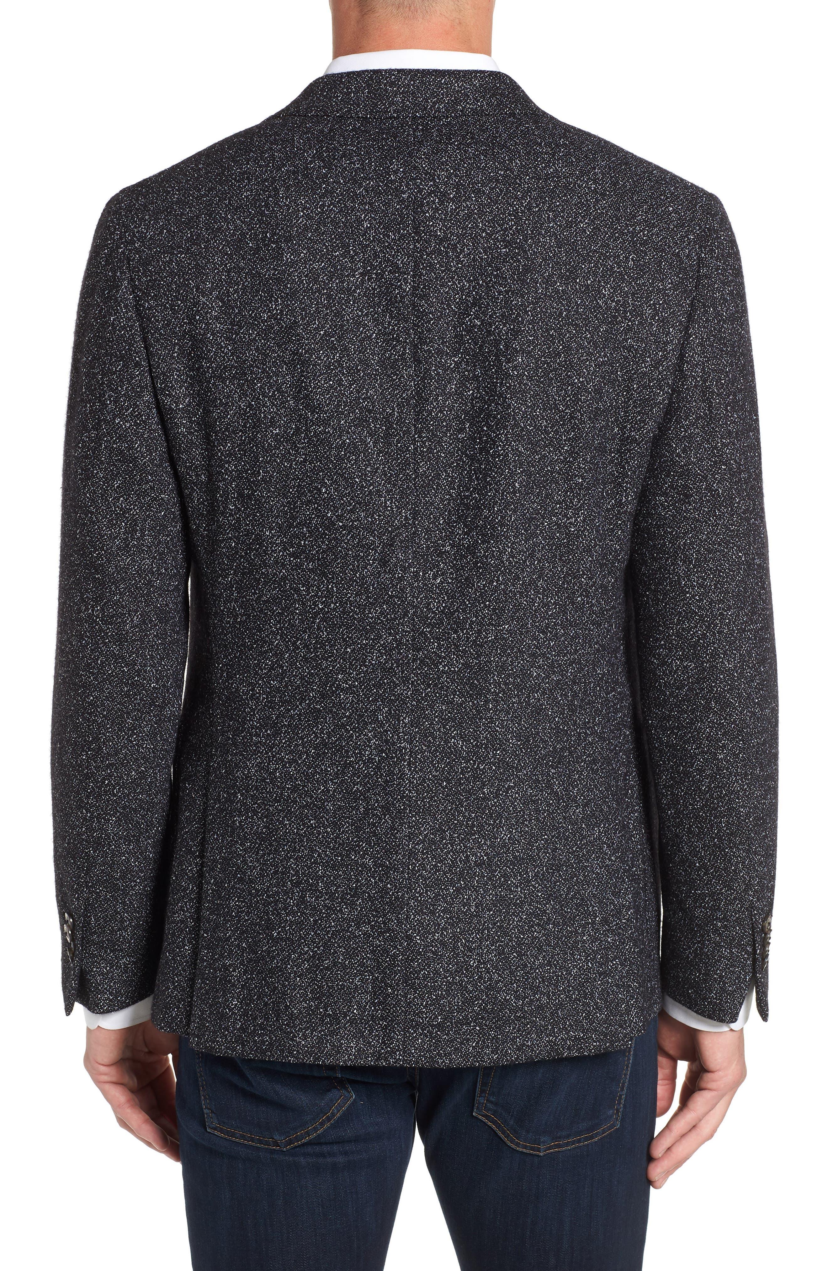 Chester Tailored Fit Sport Coat,                             Alternate thumbnail 2, color,                             BLACK