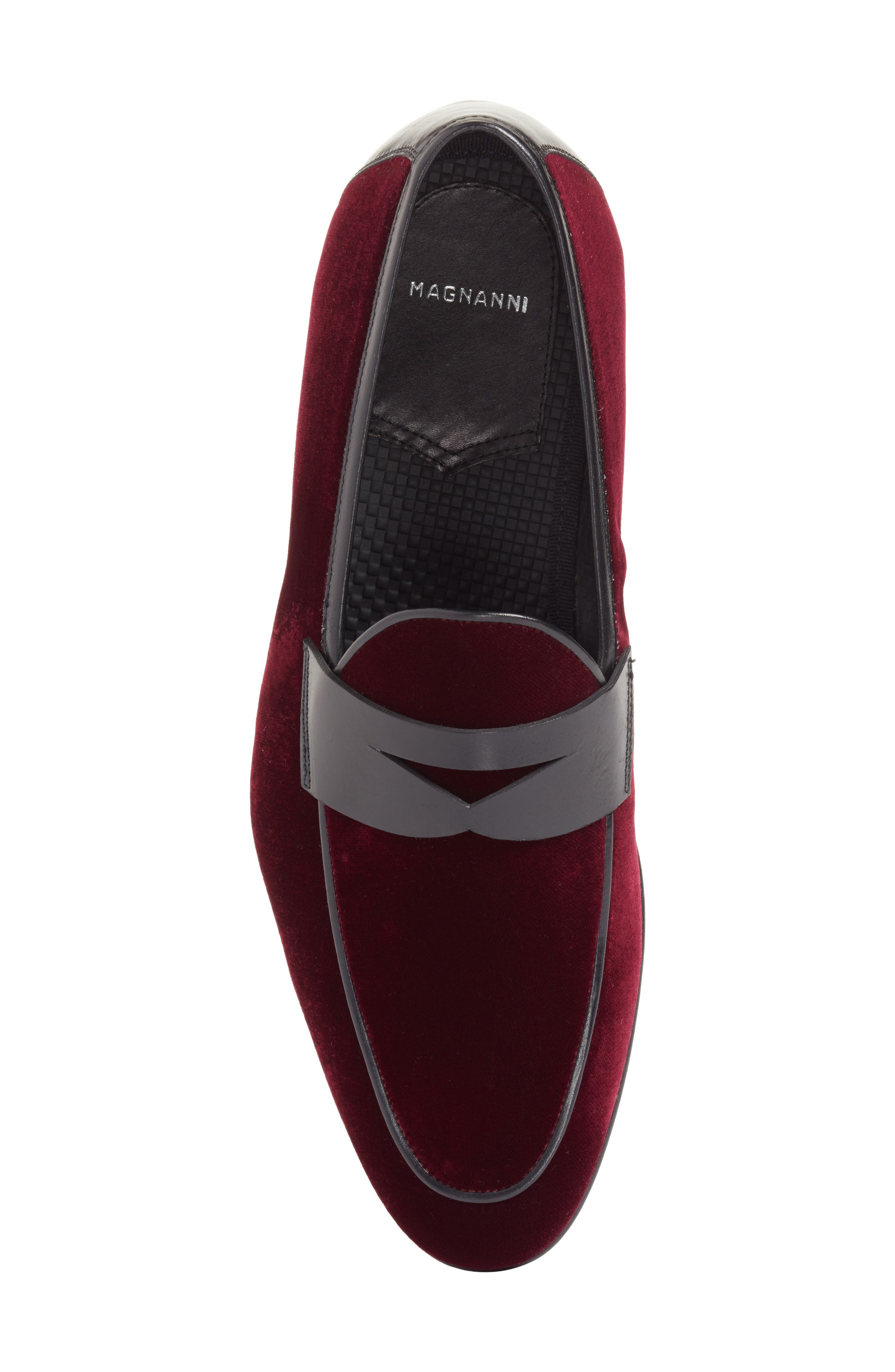 Dorado Penny Loafer,                             Alternate thumbnail 5, color,                             BURGUNDY
