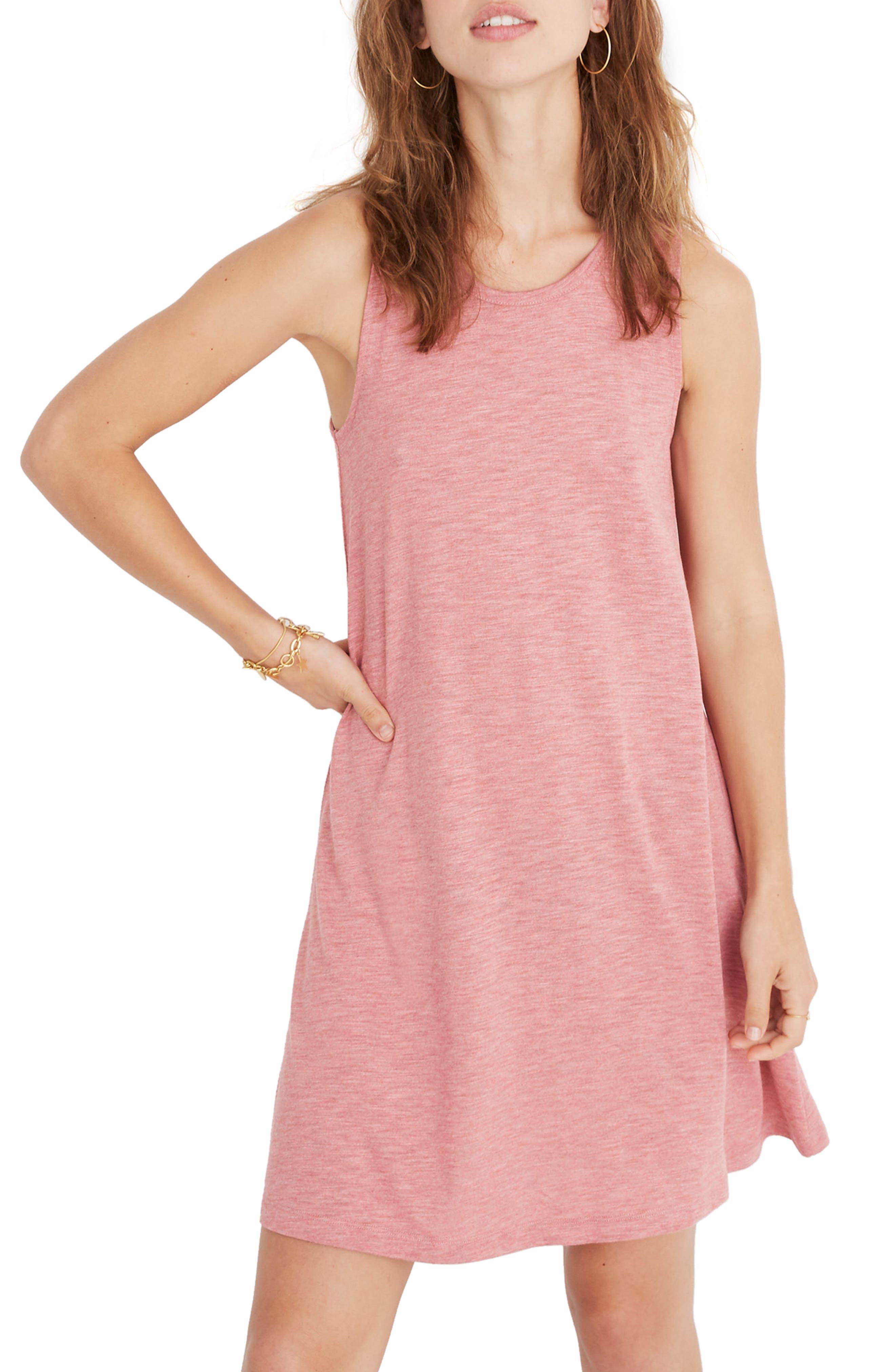 Madewell Highpoint Tank Dress, Pink