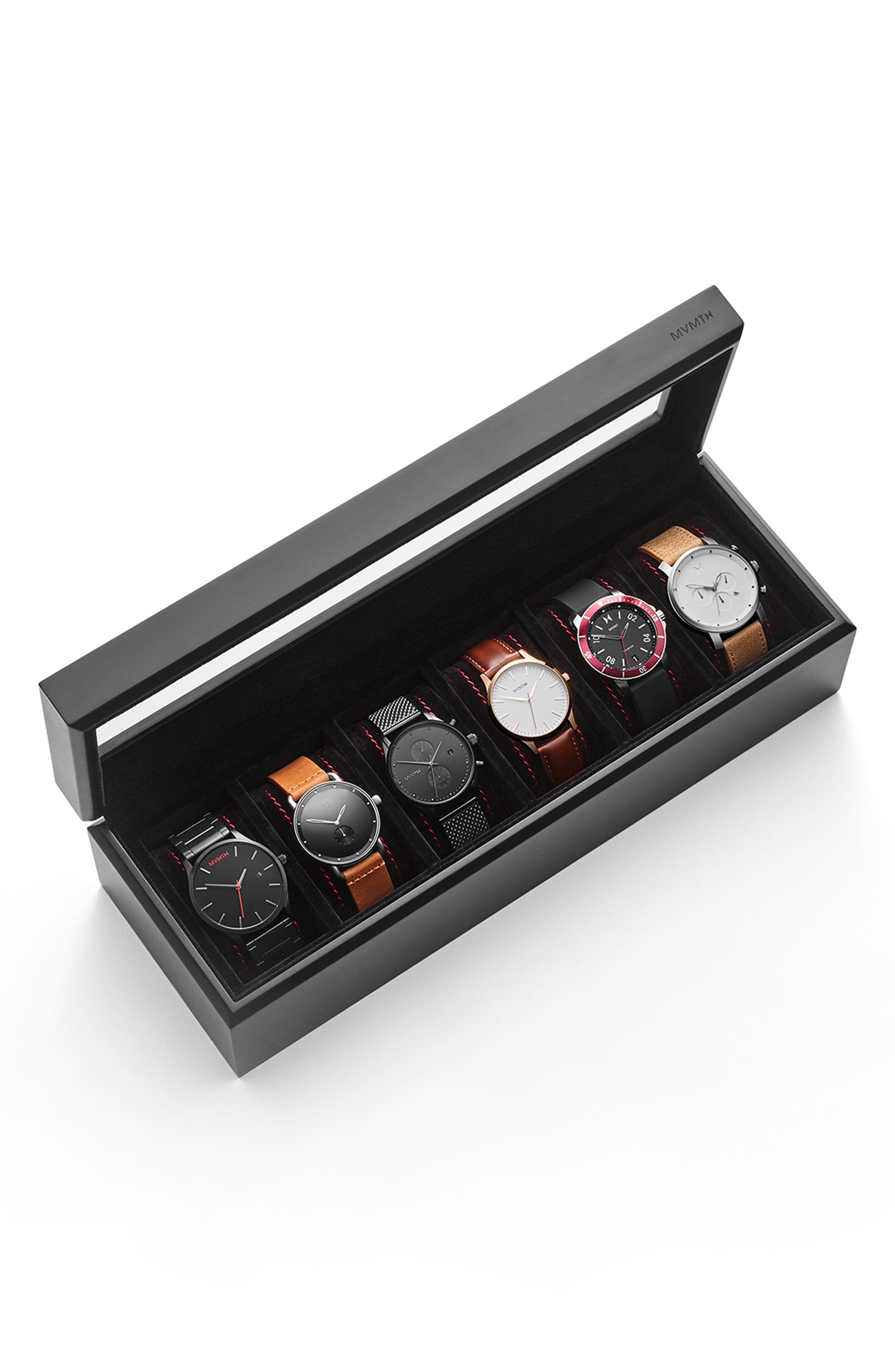 Watch Collector's Case,                             Alternate thumbnail 5, color,                             BLACK