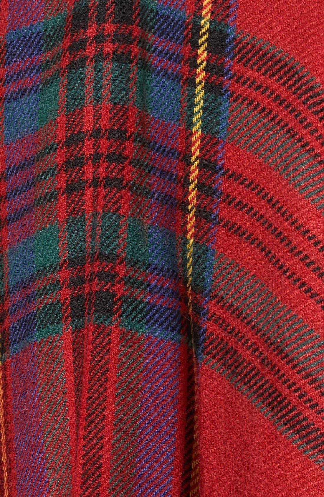 MODENA,                             Reversible Plaid & Herringbone Cape,                             Alternate thumbnail 3, color,                             600