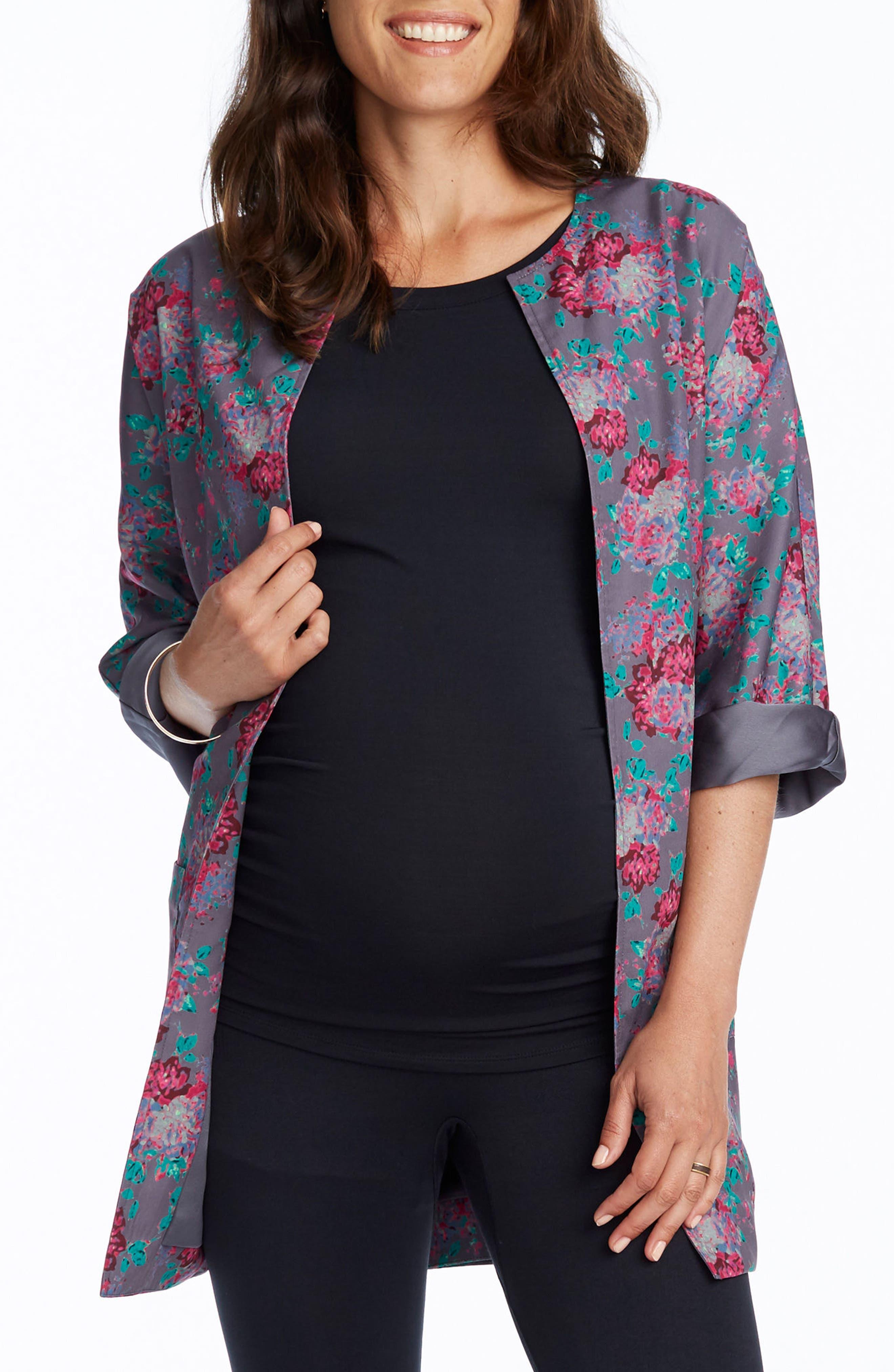 Bella Maternity Kimono Jacket,                         Main,                         color, 060