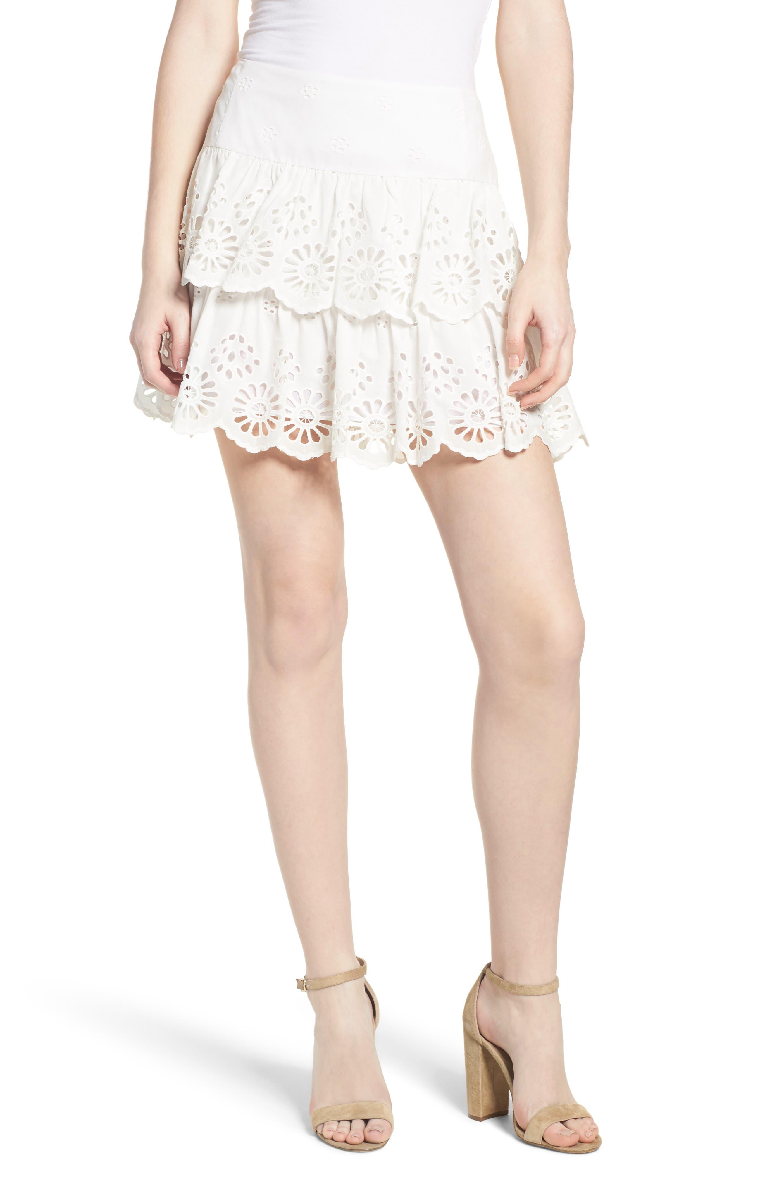 Nell Skirt,                         Main,                         color, WHITE