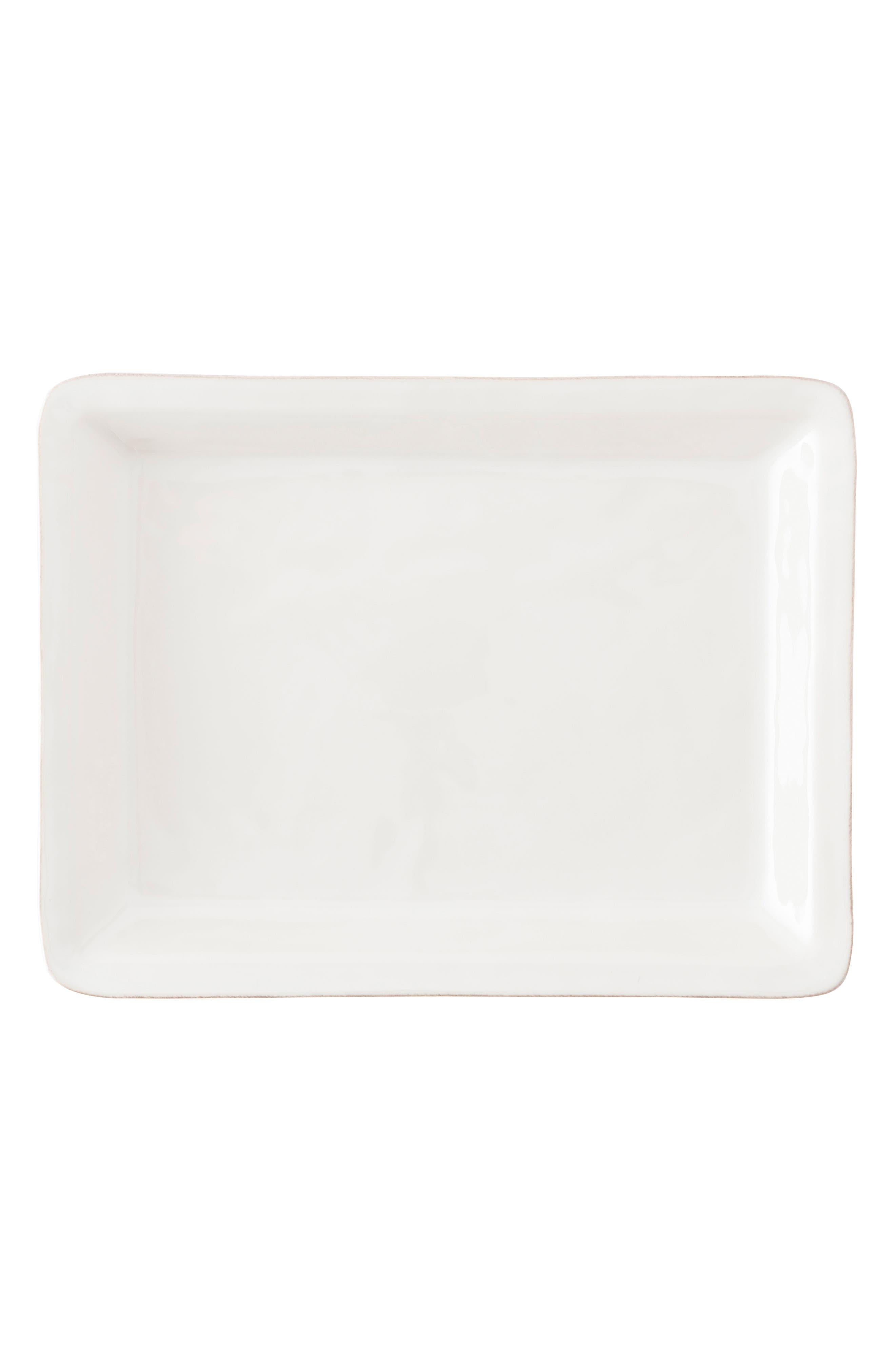 Puro Large Ceramic Serving Tray,                         Main,                         color, WHITEWASH