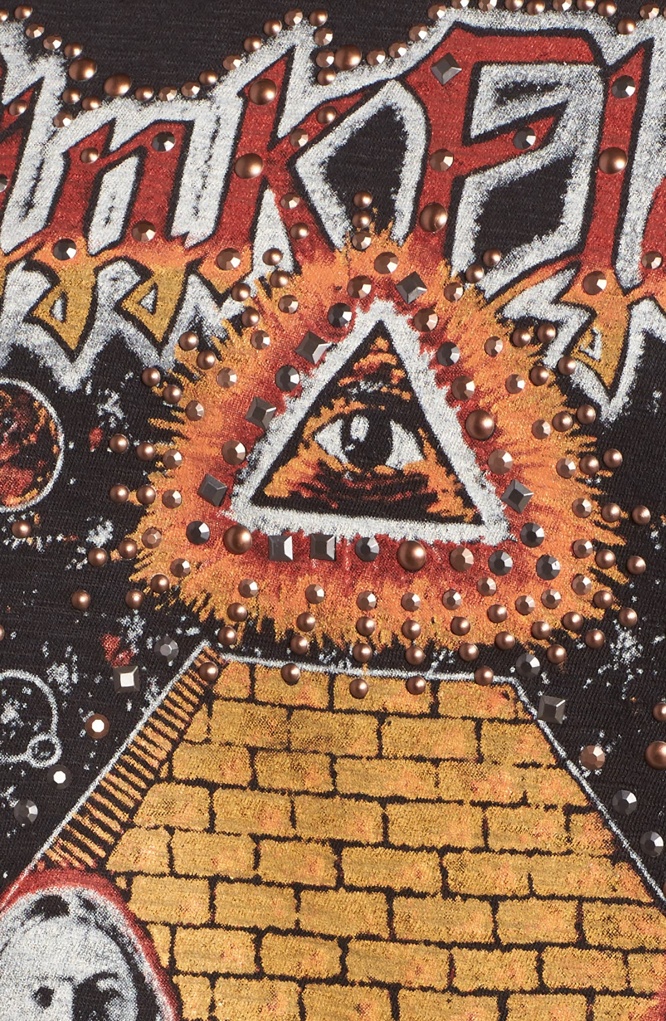 Studded Pink Floyd Graphic Tee,                             Alternate thumbnail 5, color,                             001