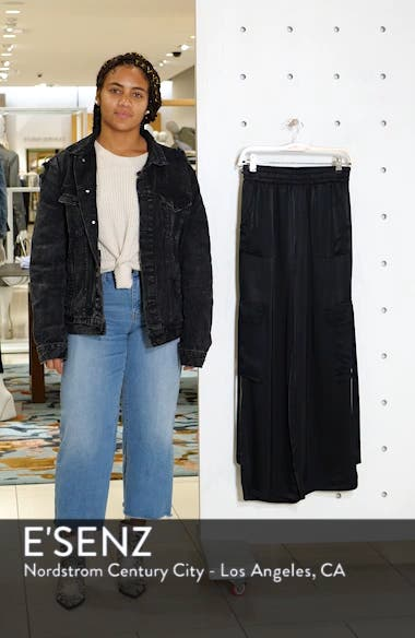 x We Own the Night Satin Combat Wide Leg Trousers, sales video thumbnail